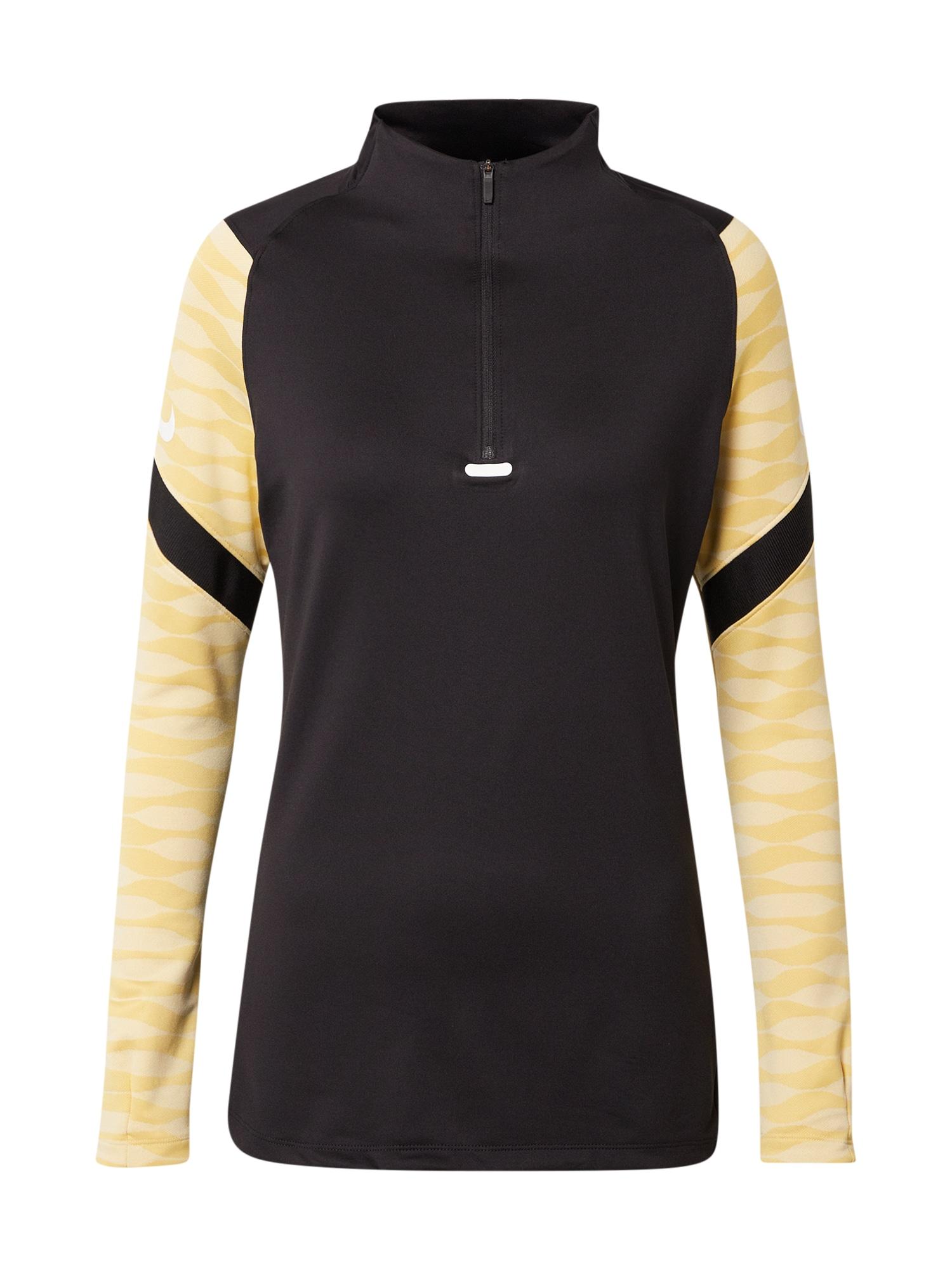 NIKE Funkční tričko 'Strike'  černá / světle žlutá / zlatě žlutá