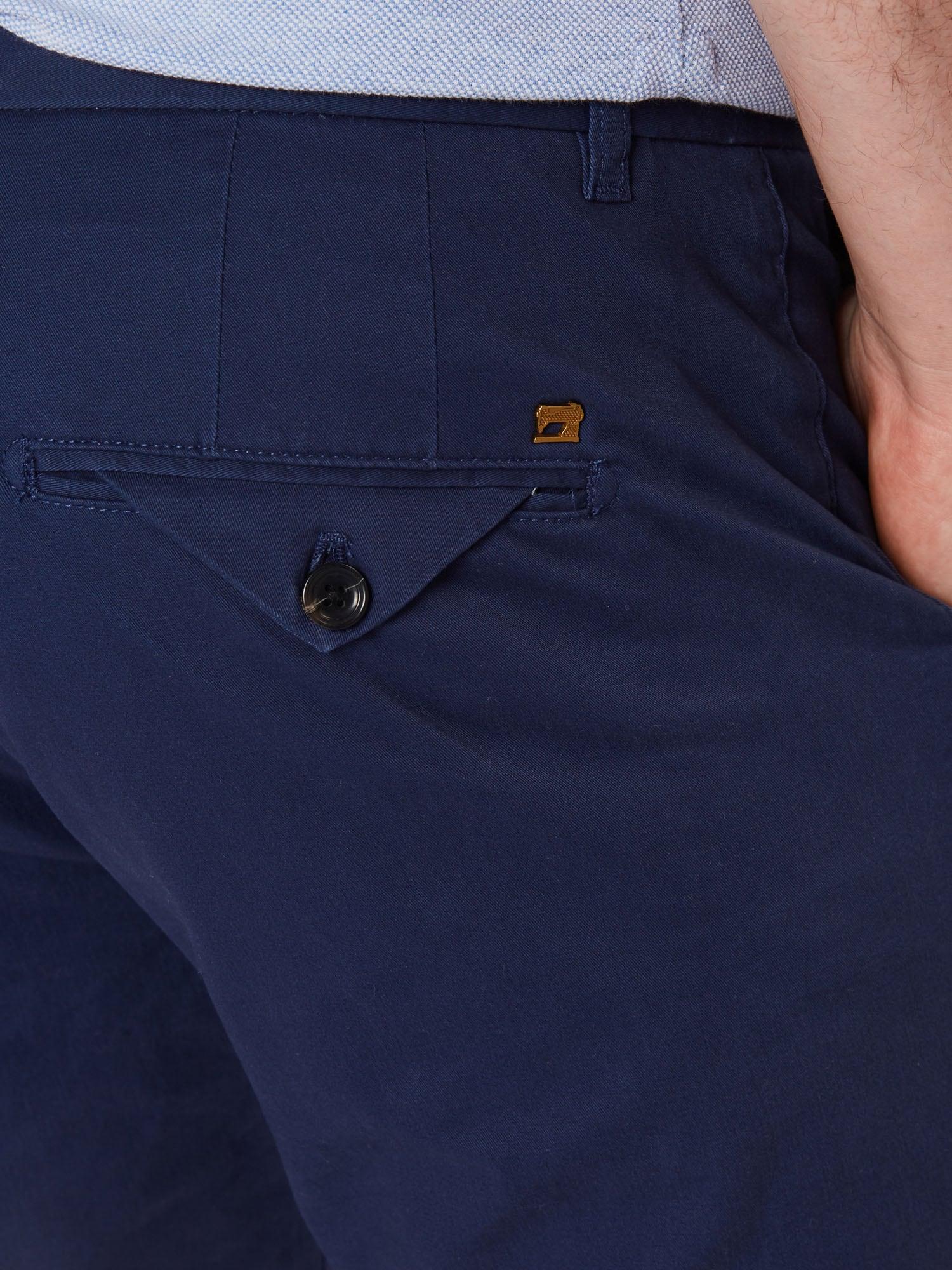 SCOTCH & SODA Chino nohavice 'STUART'  námornícka modrá.