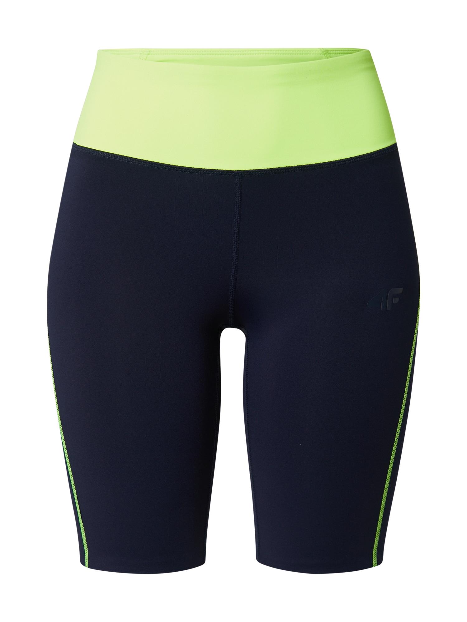 4F Sportinės kelnės tamsiai mėlyna / šviesiai žalia