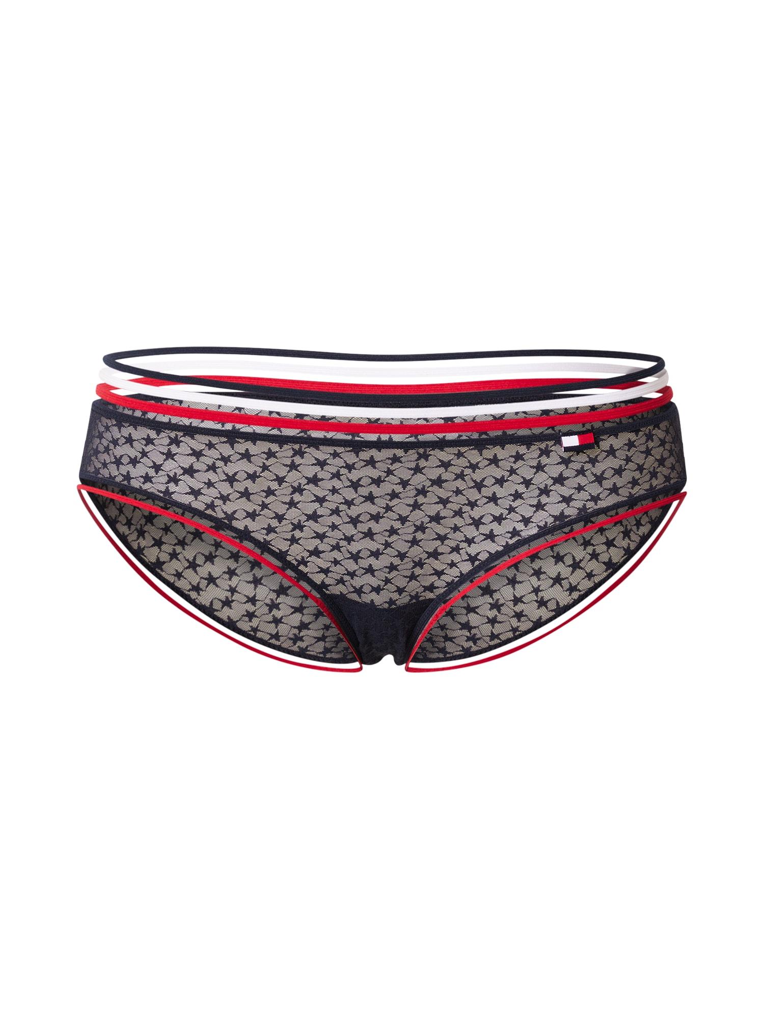 Tommy Hilfiger Underwear Kelnaitės paaukštintu liemeniu tamsiai mėlyna / balta / raudona