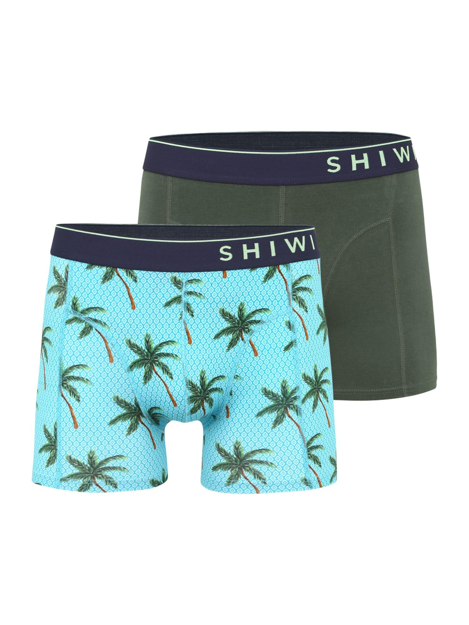 Shiwi Boxer trumpikės tamsiai žalia / šviesiai mėlyna