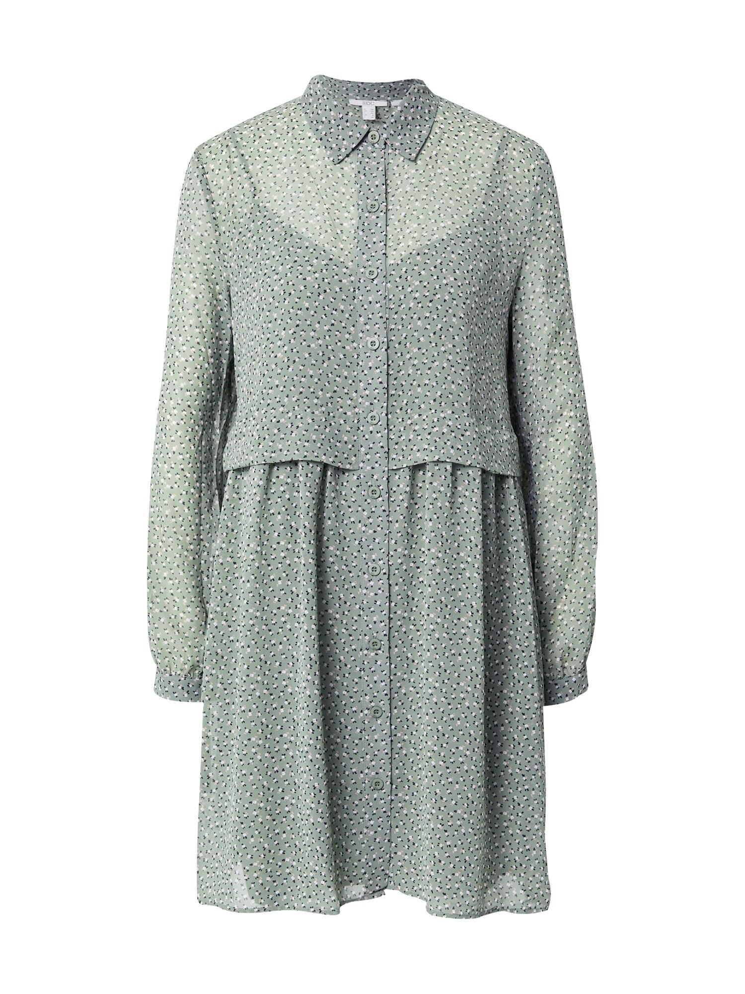 EDC BY ESPRIT Palaidinės tipo suknelė rusvai žalia