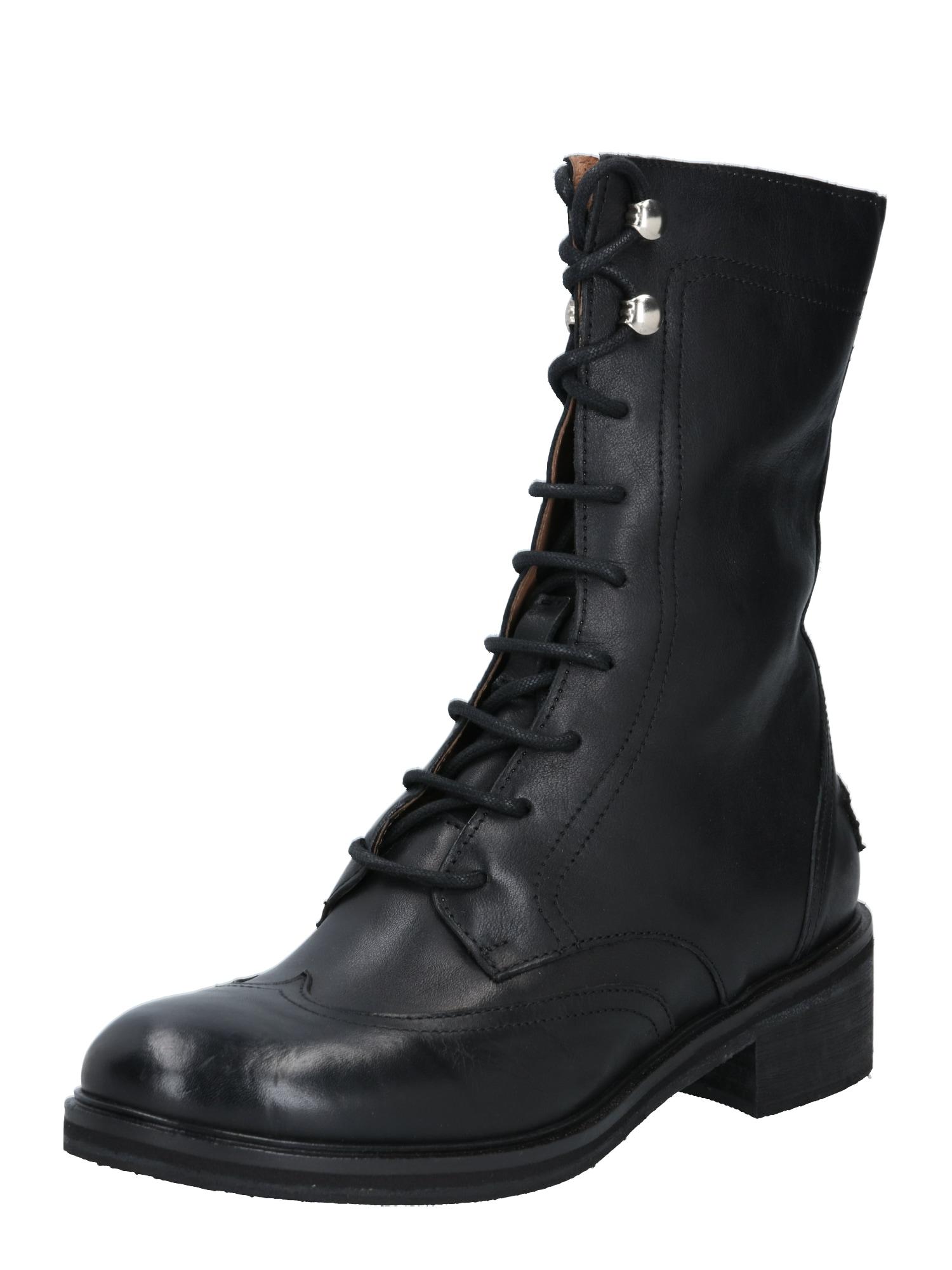 SHABBIES AMSTERDAM Šněrovací boty  černá