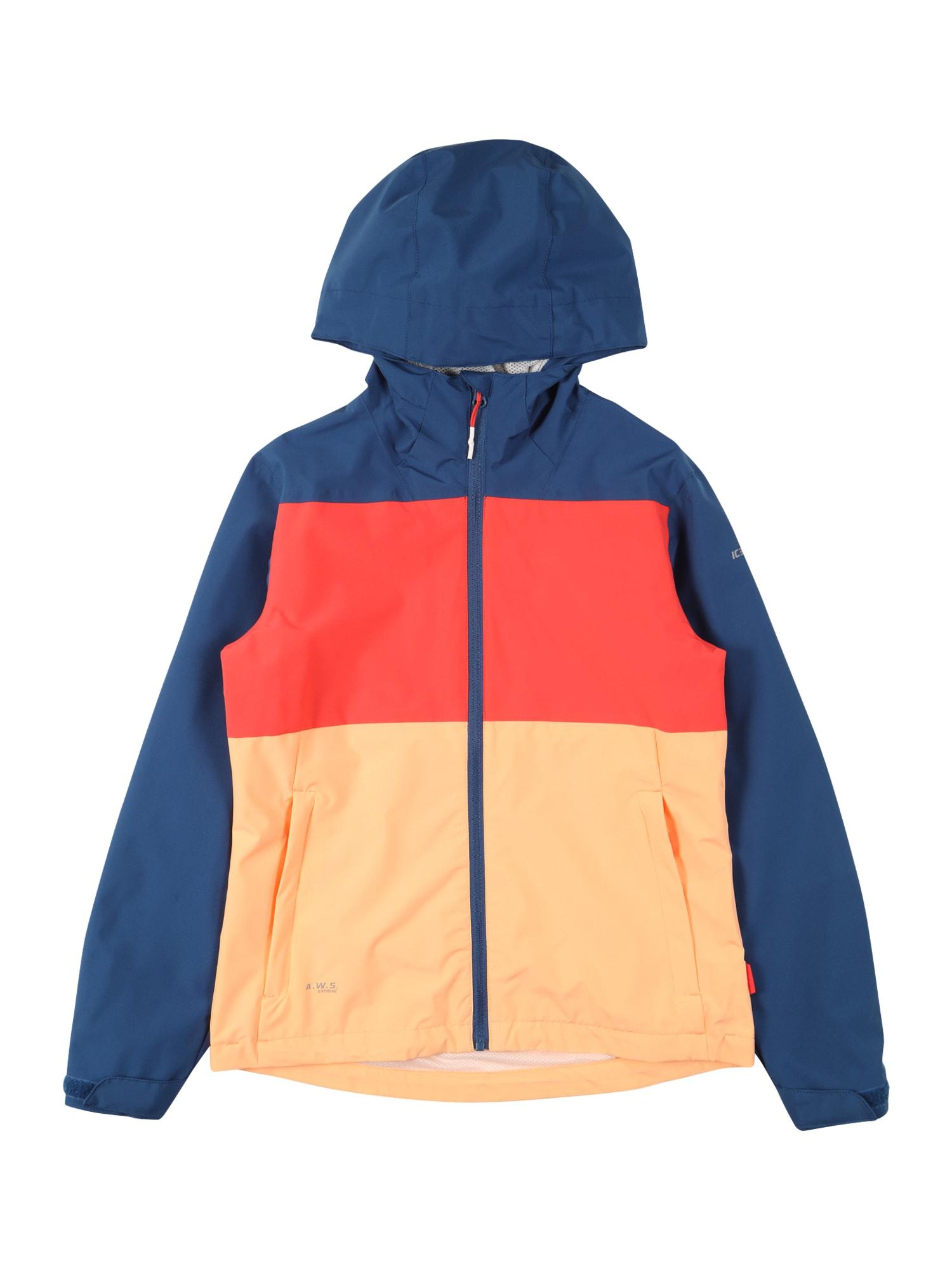 ICEPEAK Demisezoninė striukė oranžinė / mėlyna