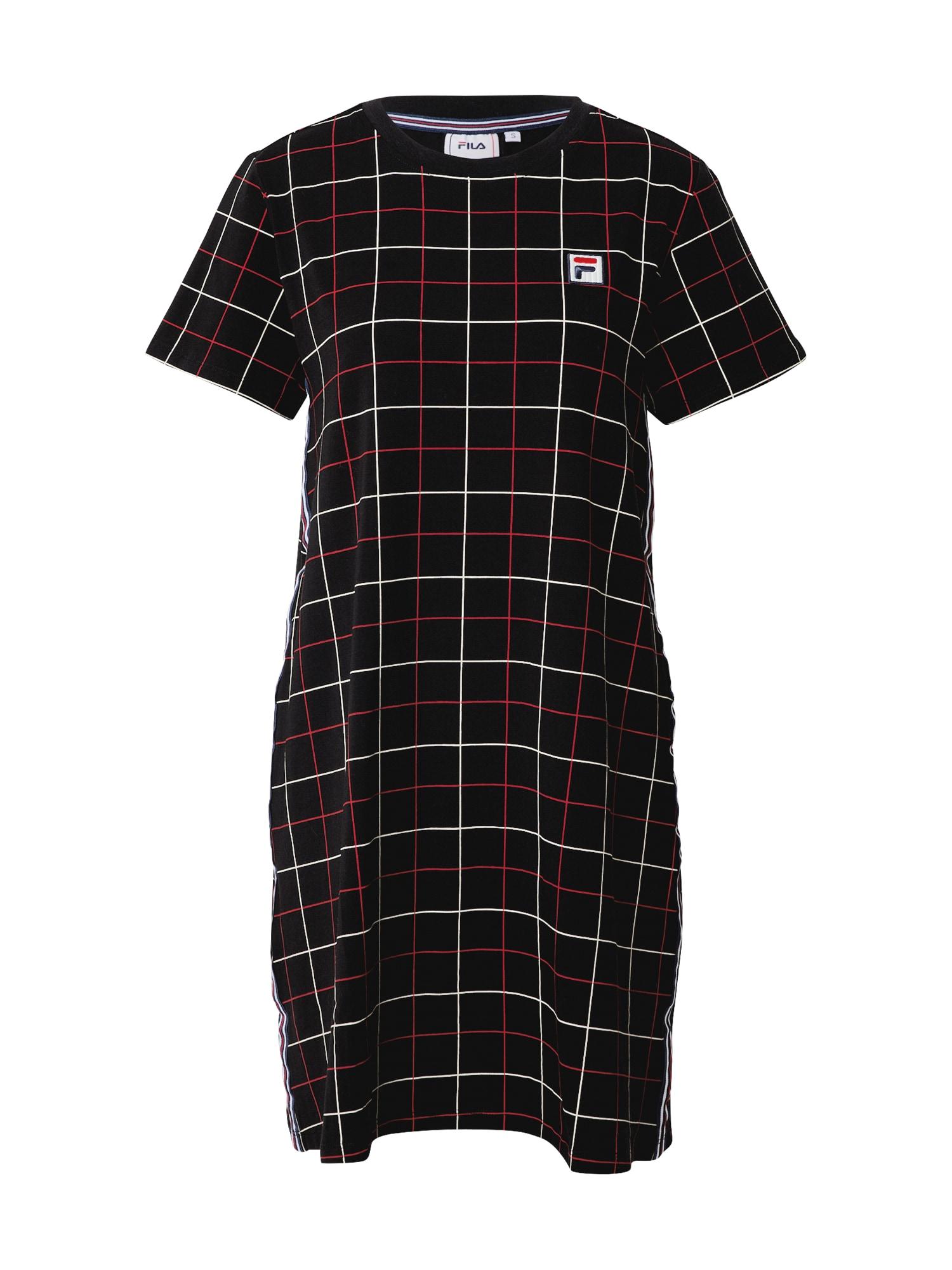 FILA Šaty 'Winona'  černá / červená / bílá