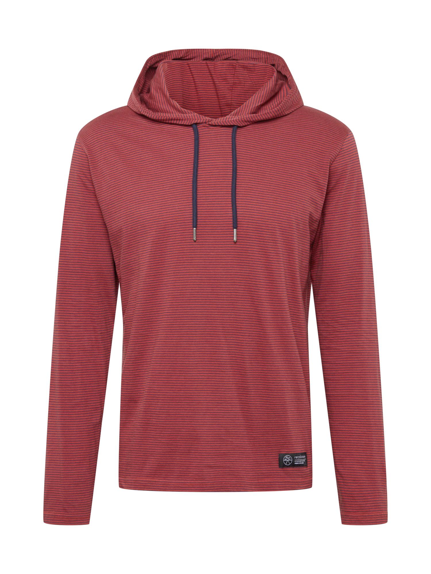 recolution Marškinėliai tamsiai mėlyna / pastelinė raudona