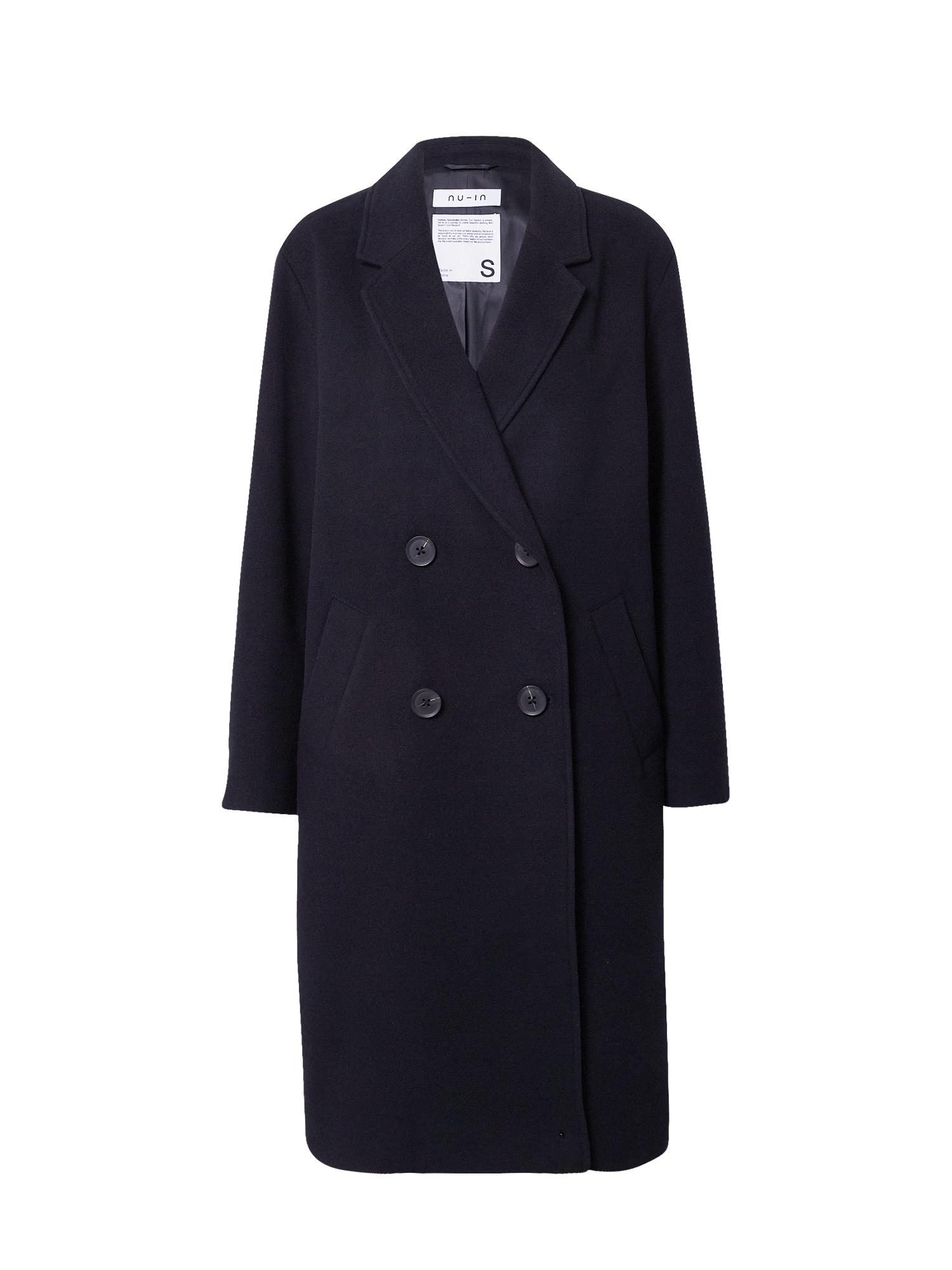 NU-IN Demisezoninis paltas juoda