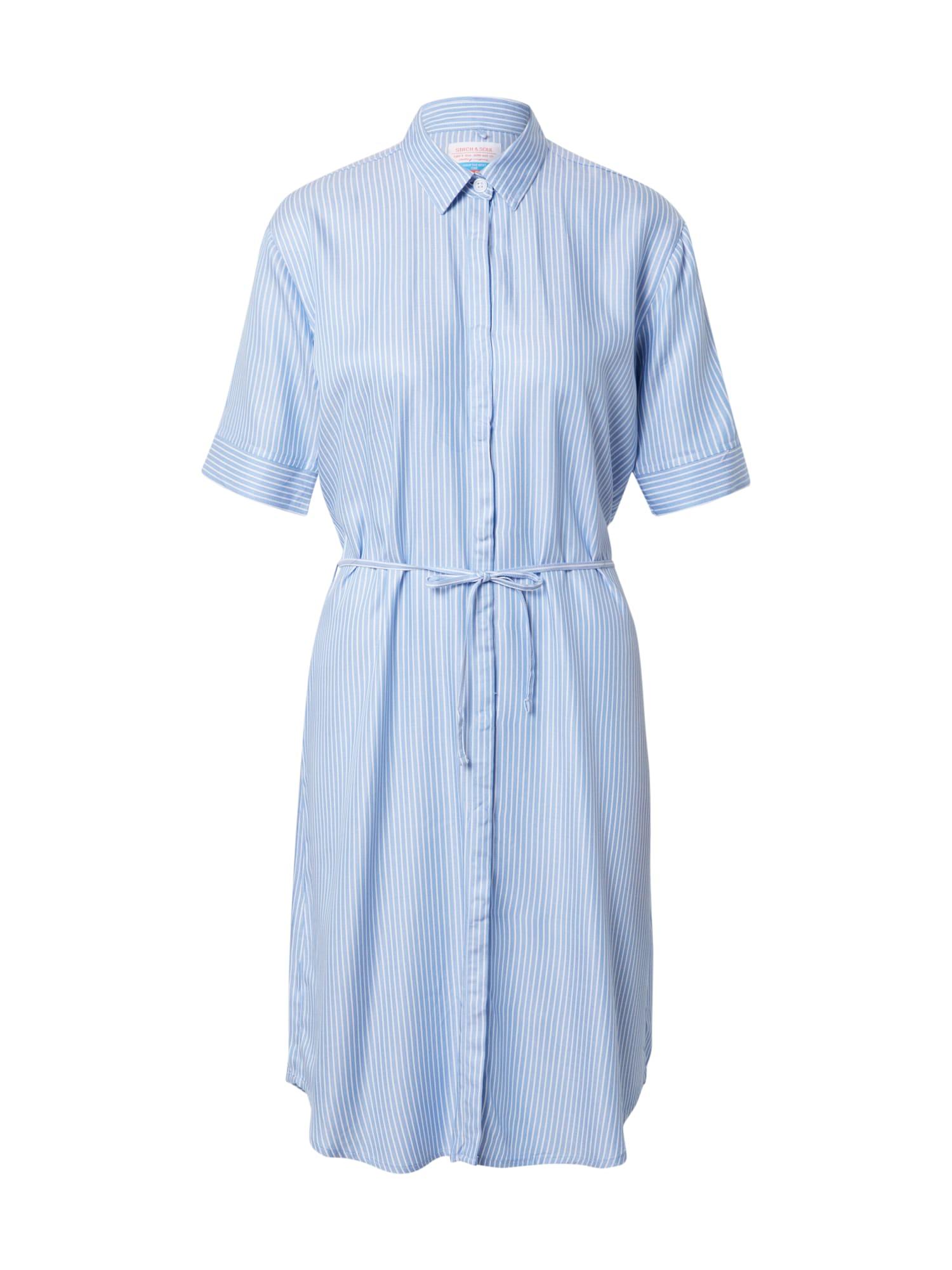 Stitch and Soul Palaidinės tipo suknelė šviesiai mėlyna / balta