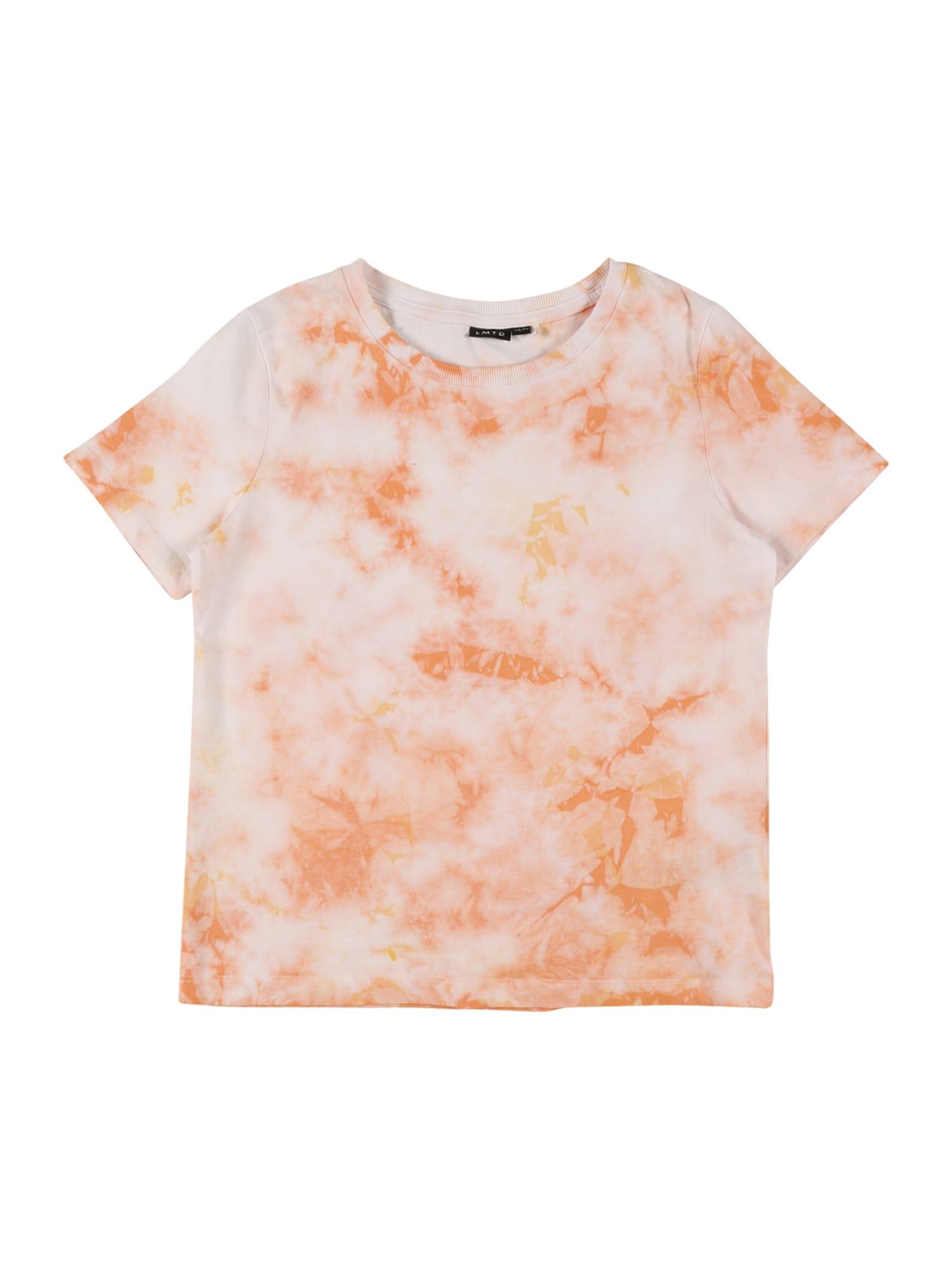 LMTD Marškinėliai balta / oranžinė
