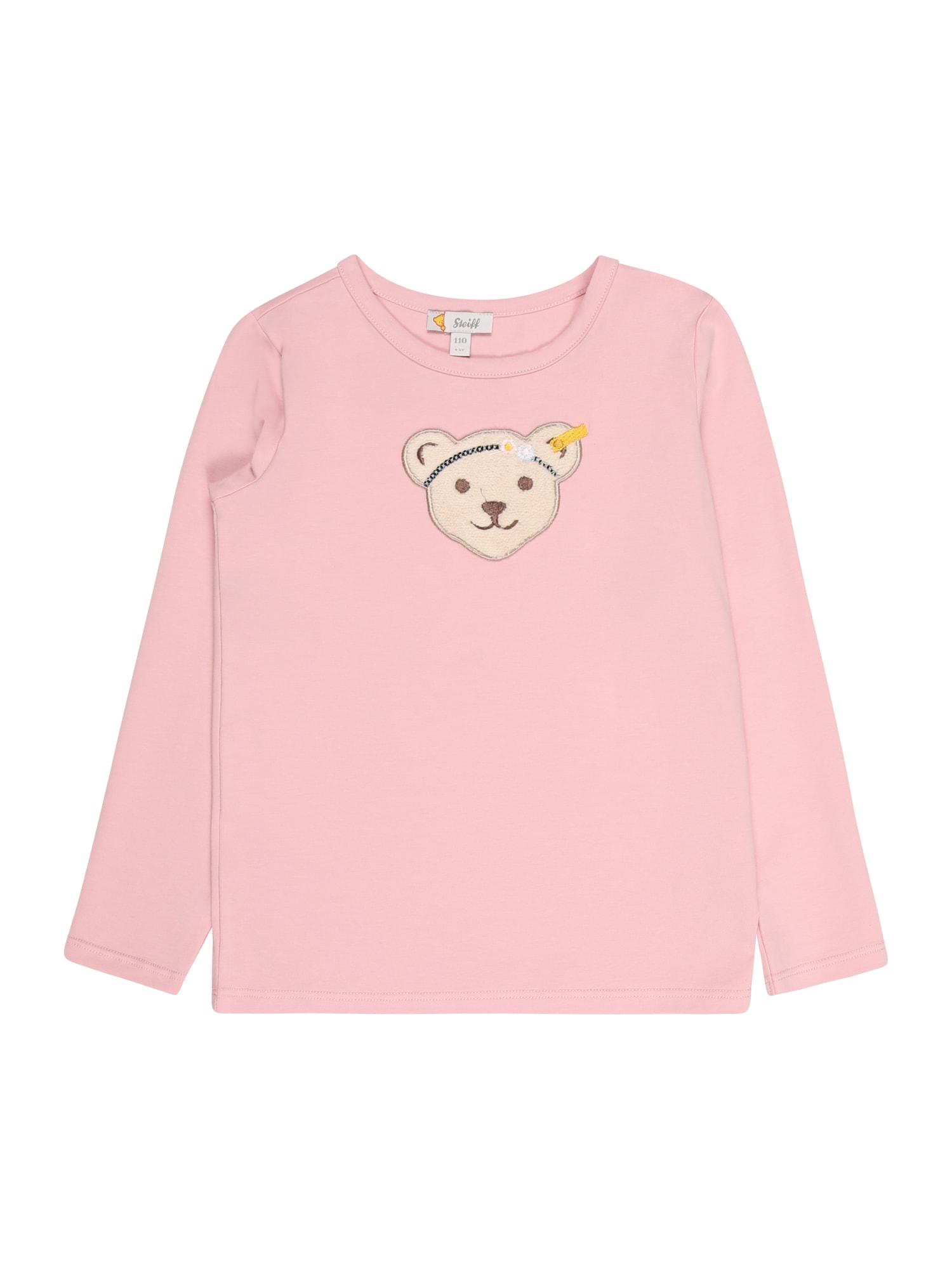 Steiff Collection Marškinėliai rožinė / šviesiai ruda / tamsiai ruda / tamsiai geltona