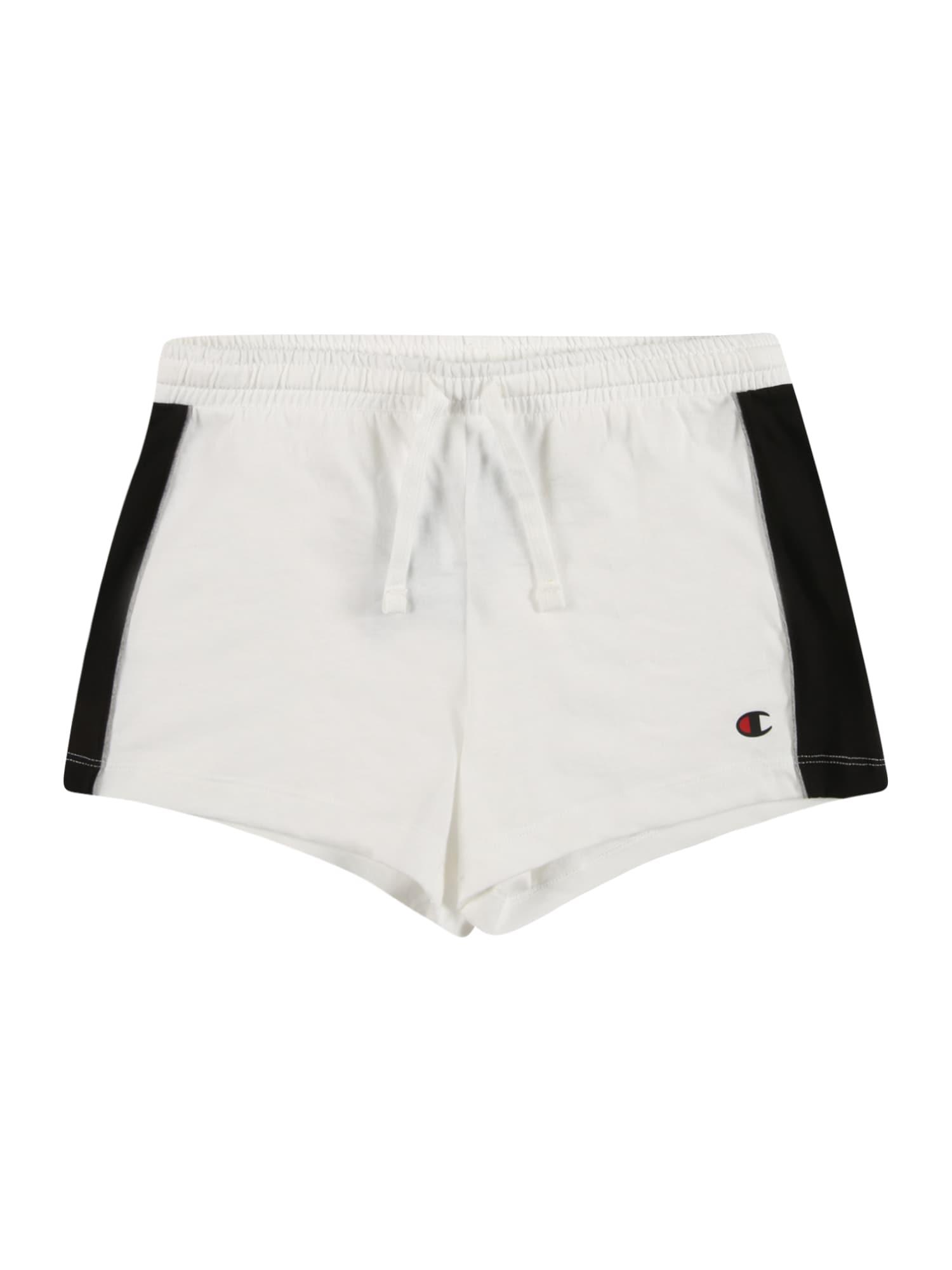 Champion Authentic Athletic Apparel Kelnės balta / juoda / sidabro pilka