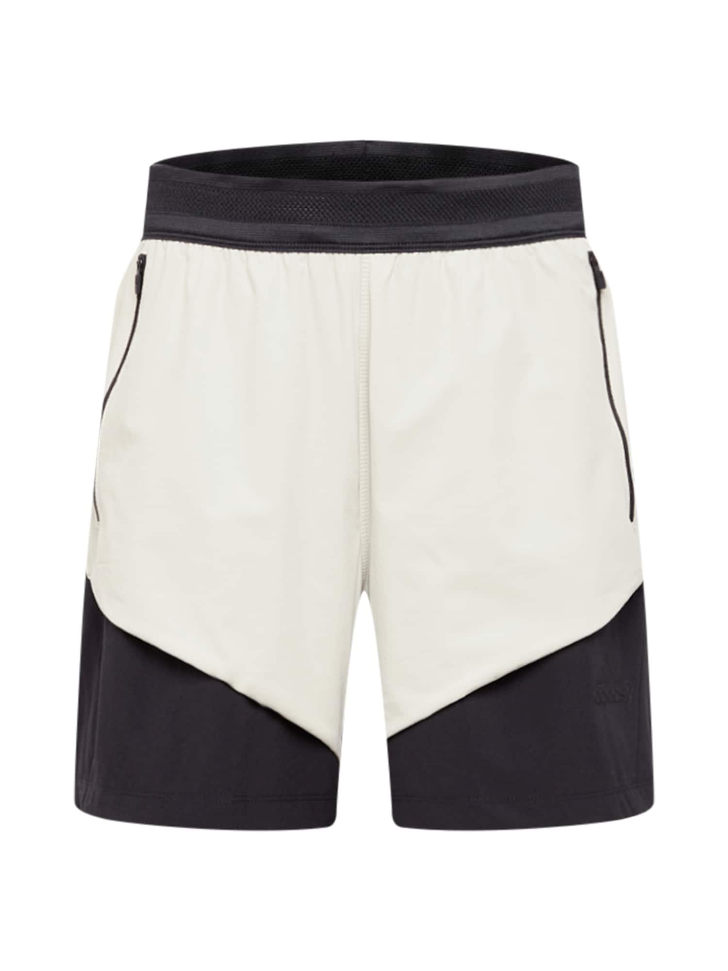 ADIDAS PERFORMANCE Sportinės kelnės kremo / juoda