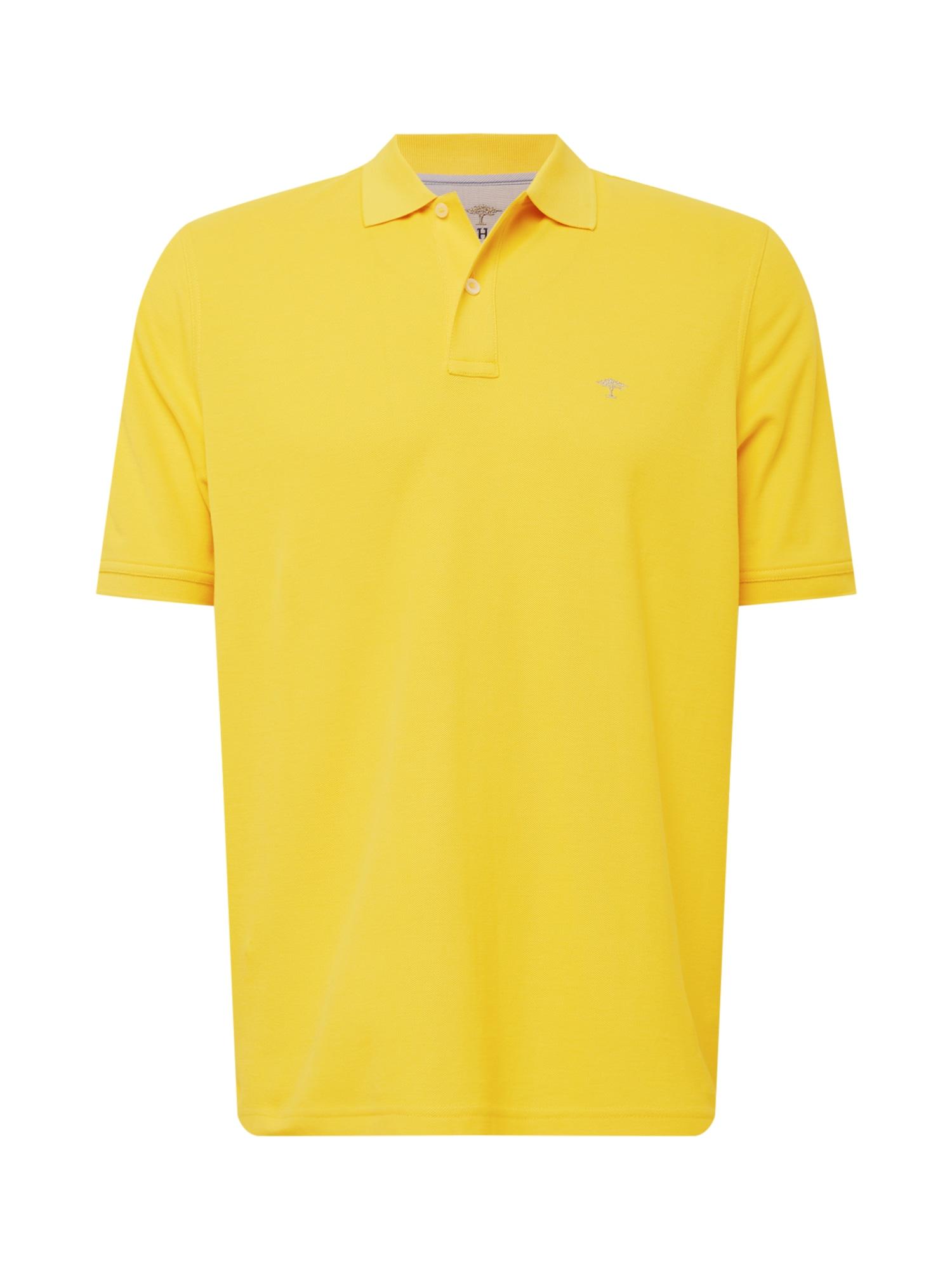 FYNCH-HATTON Marškinėliai žaliosios citrinos spalva / šviesiai pilka