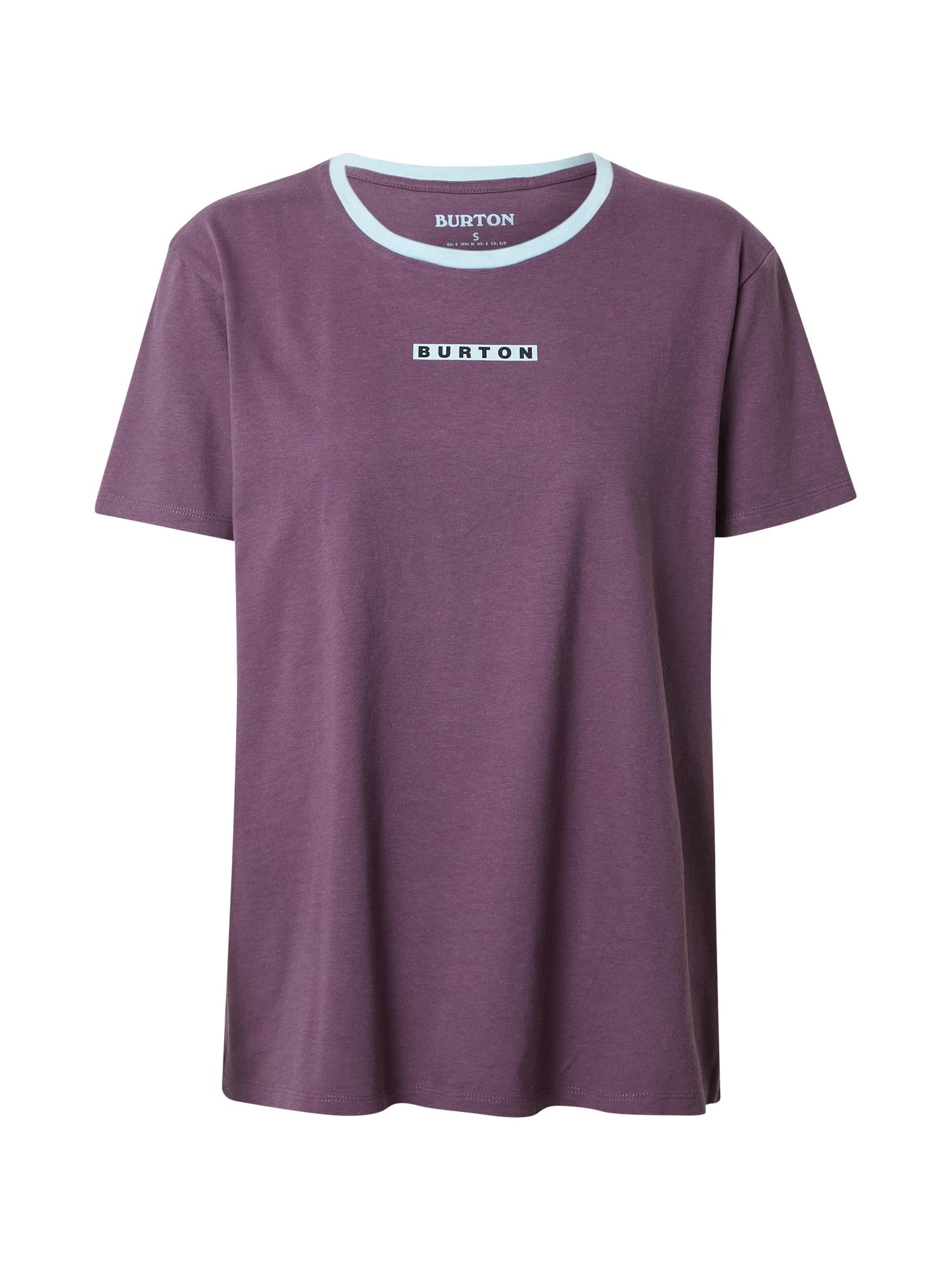 BURTON Sportiniai marškinėliai uogų spalva / šviesiai mėlyna / juoda
