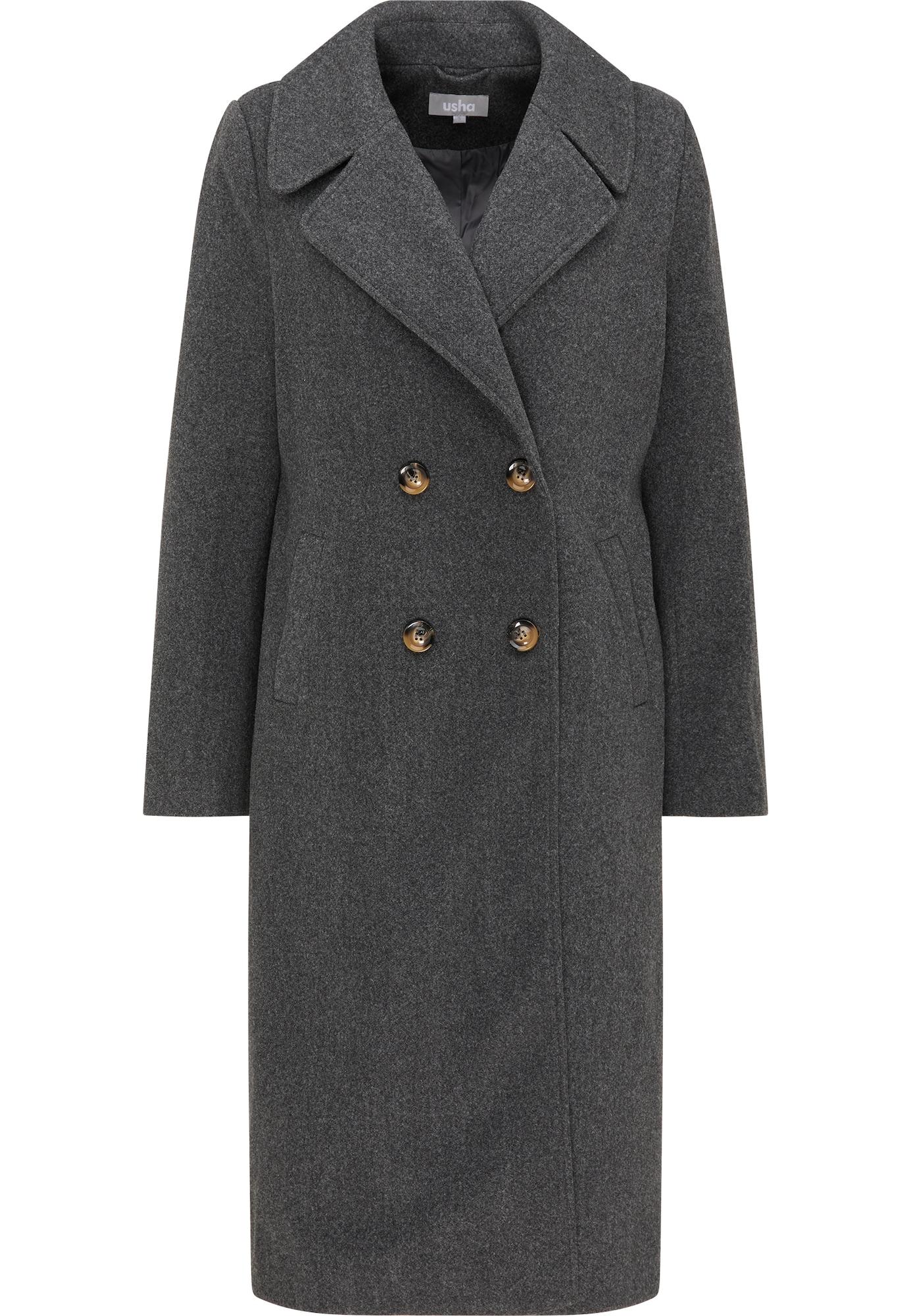 Usha Demisezoninis paltas tamsiai pilka