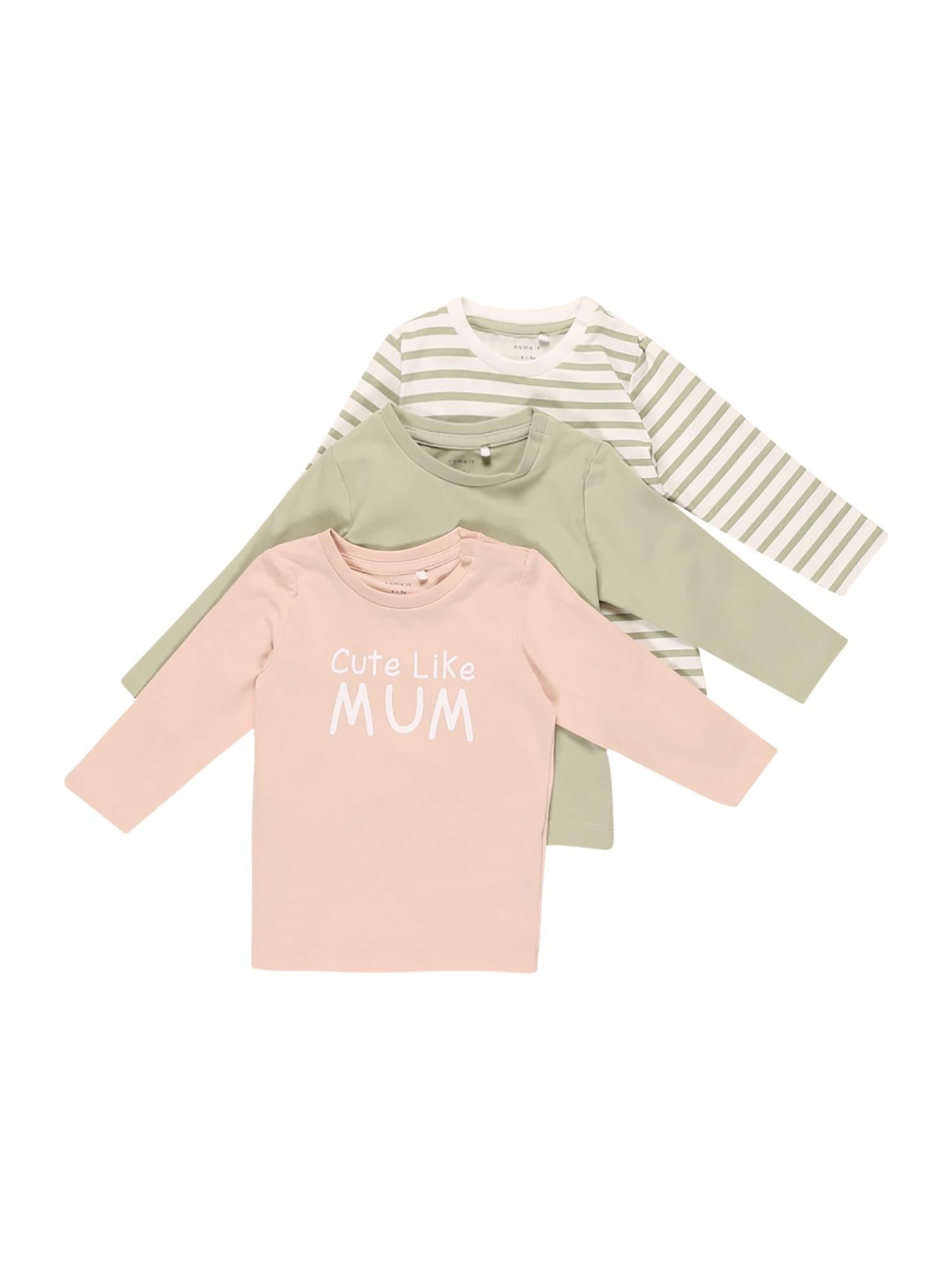 NAME IT Marškinėliai 'FILUCA' obuolių spalva / persikų spalva / kūno spalva