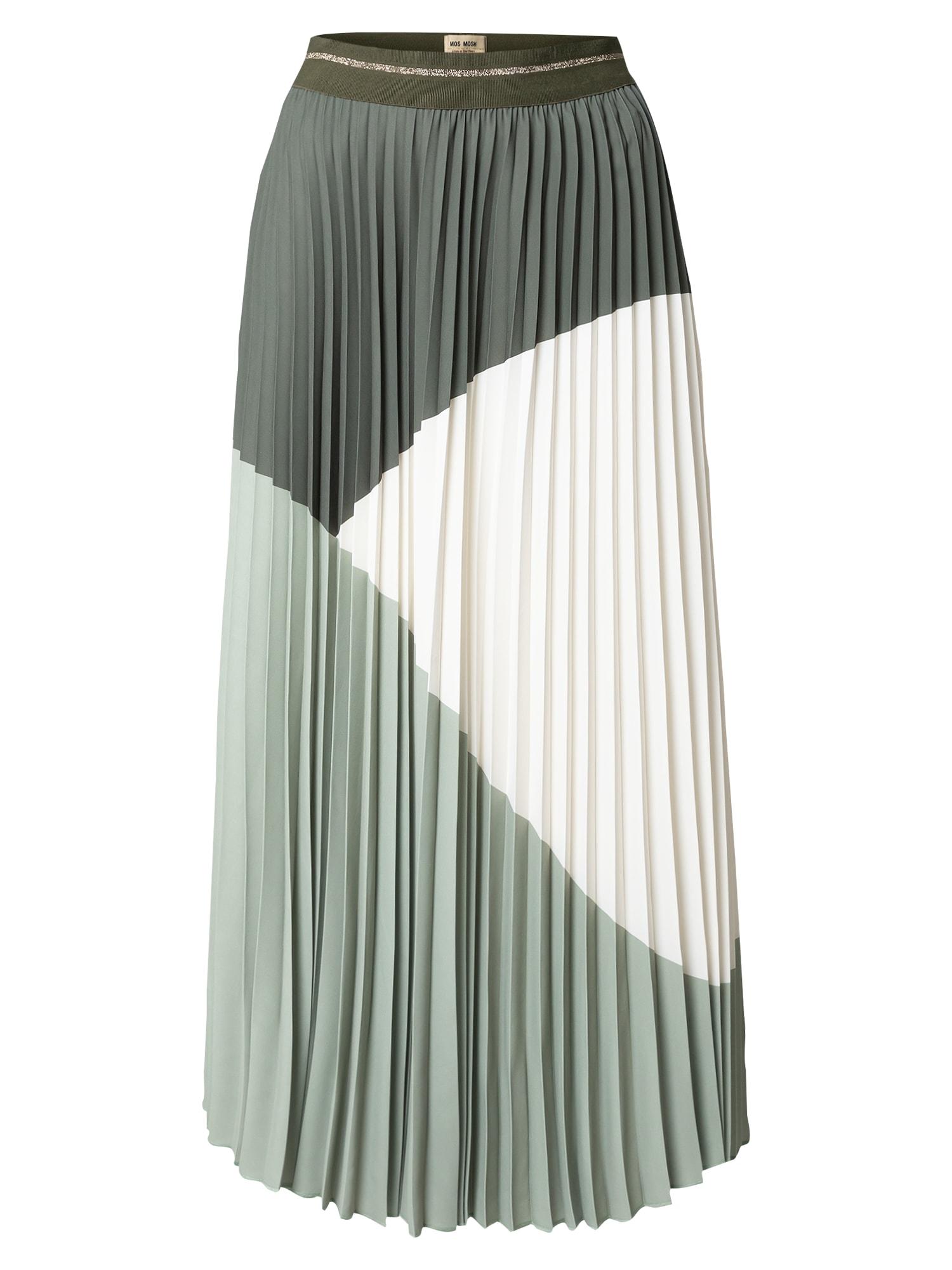 MOS MOSH Sukně  tmavě zelená / mátová / bílá