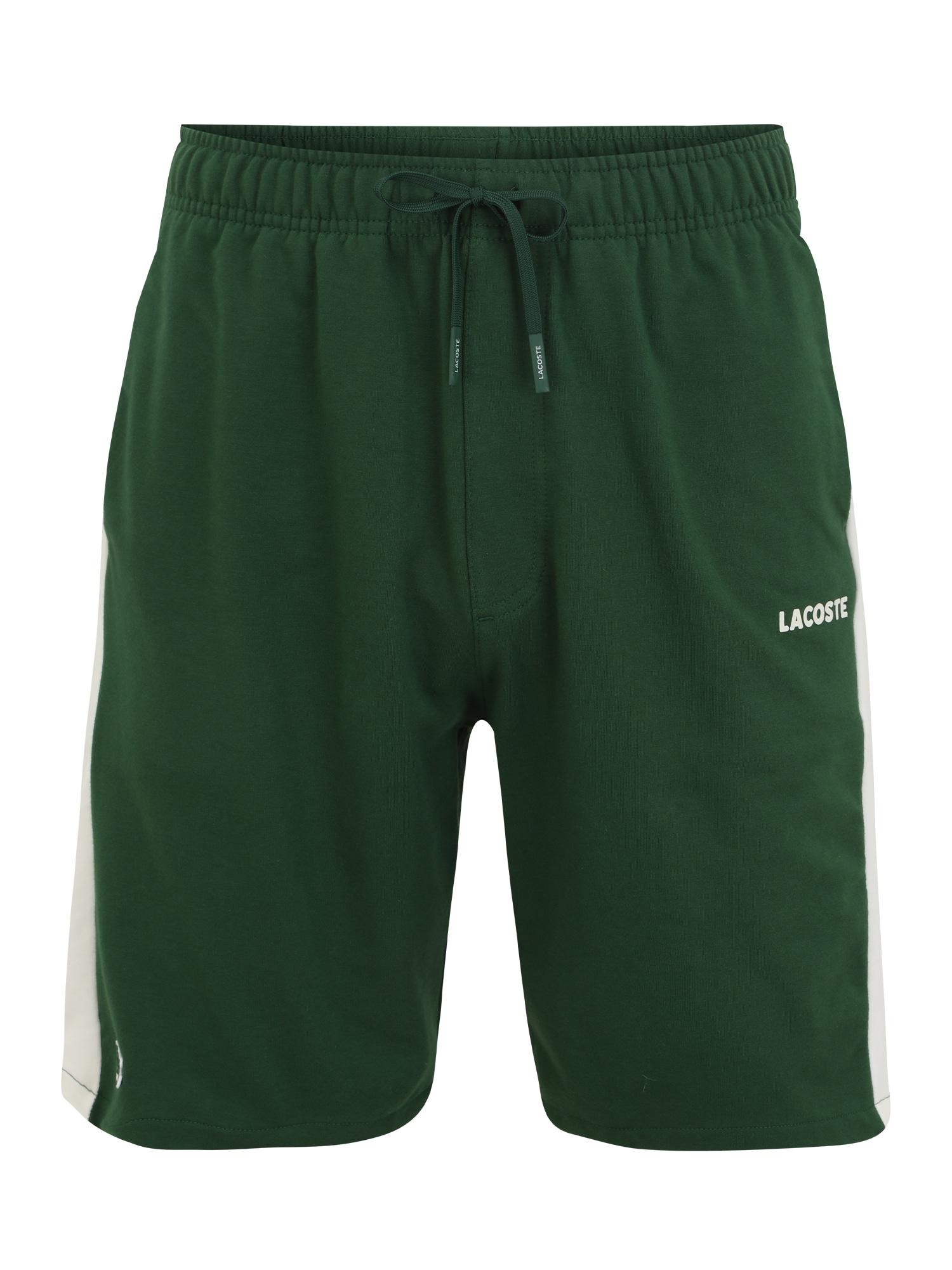 LACOSTE Kelnės balta / žalia