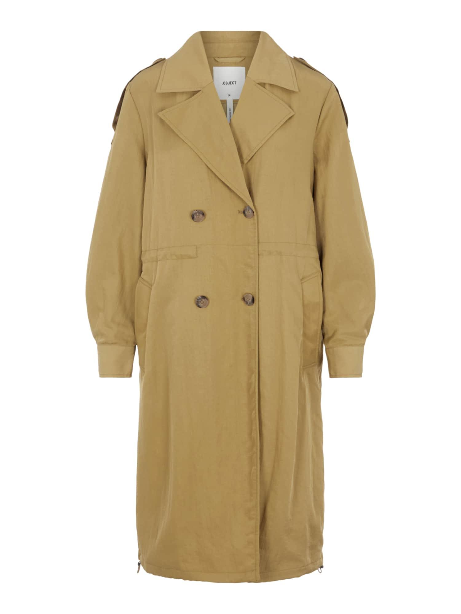 OBJECT Demisezoninis paltas šviesiai ruda