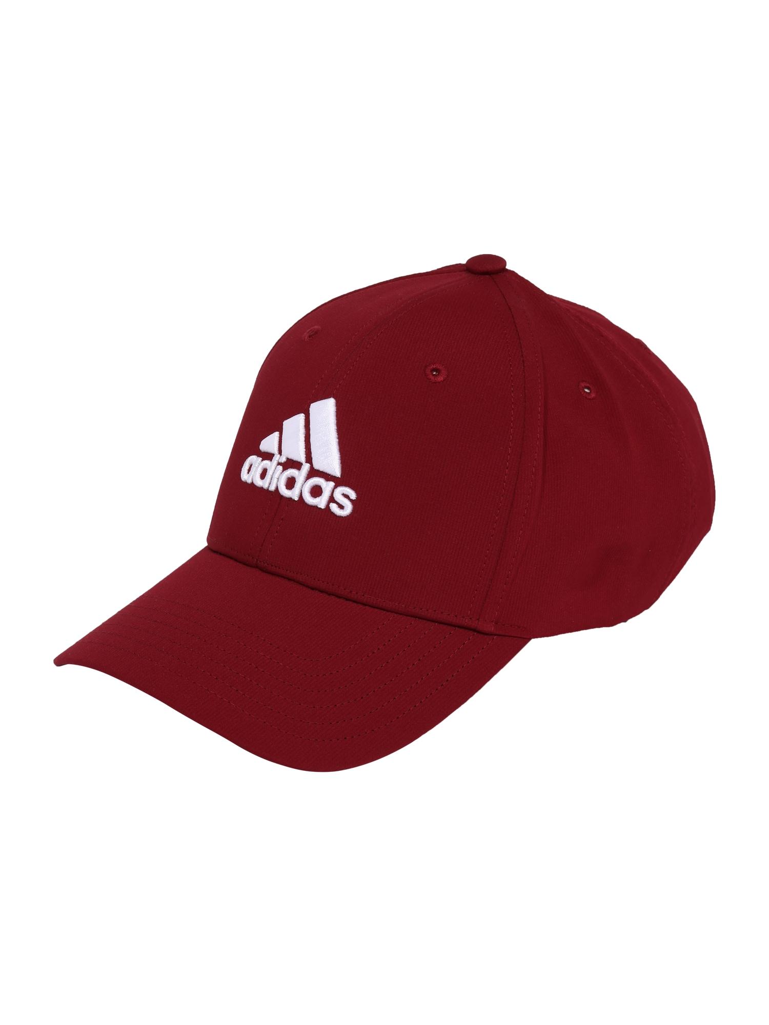 adidas Golf Sportinė kepurė tamsiai raudona / balta