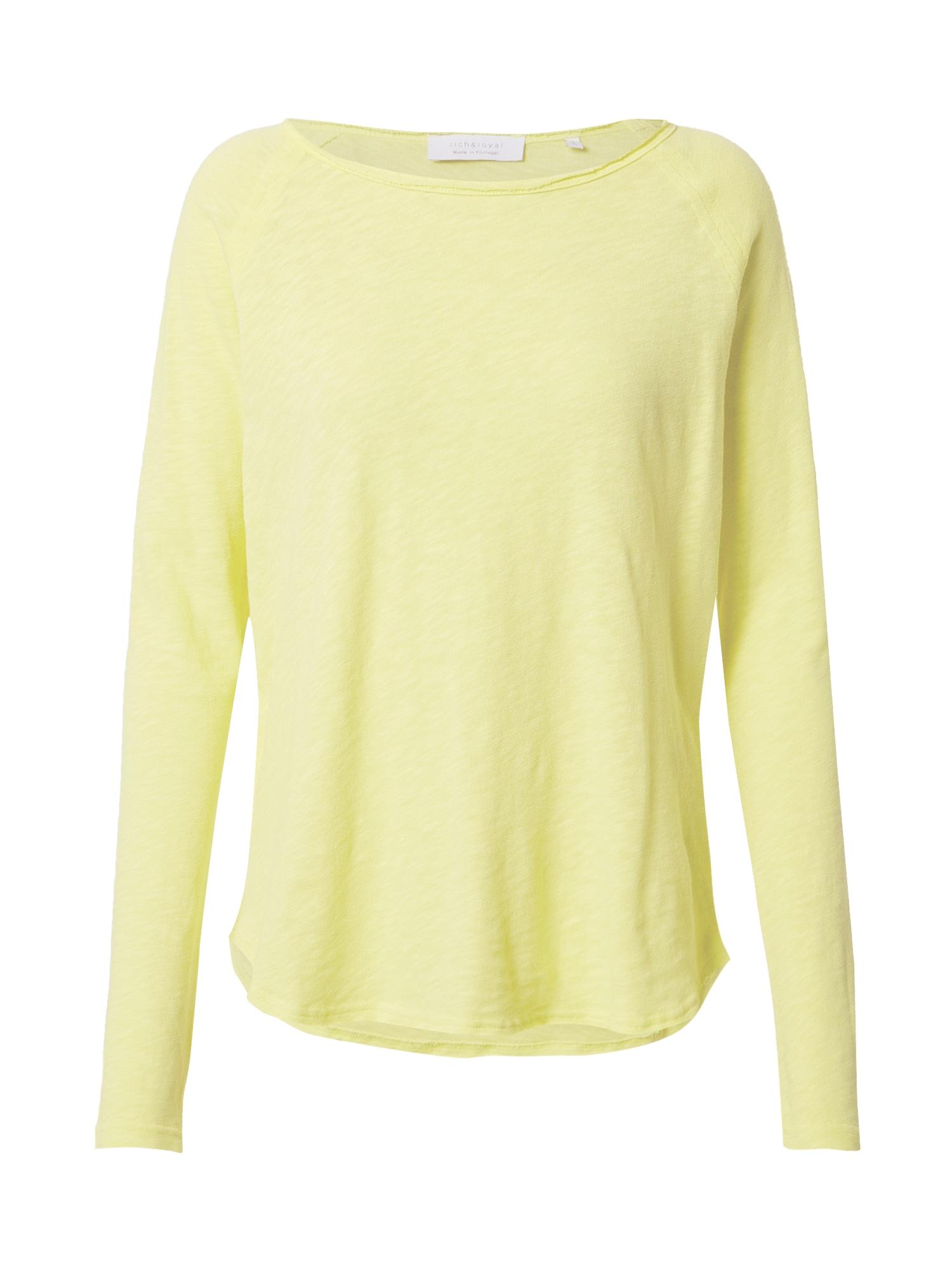 Rich & Royal Marškinėliai geltonosios citrinos spalva