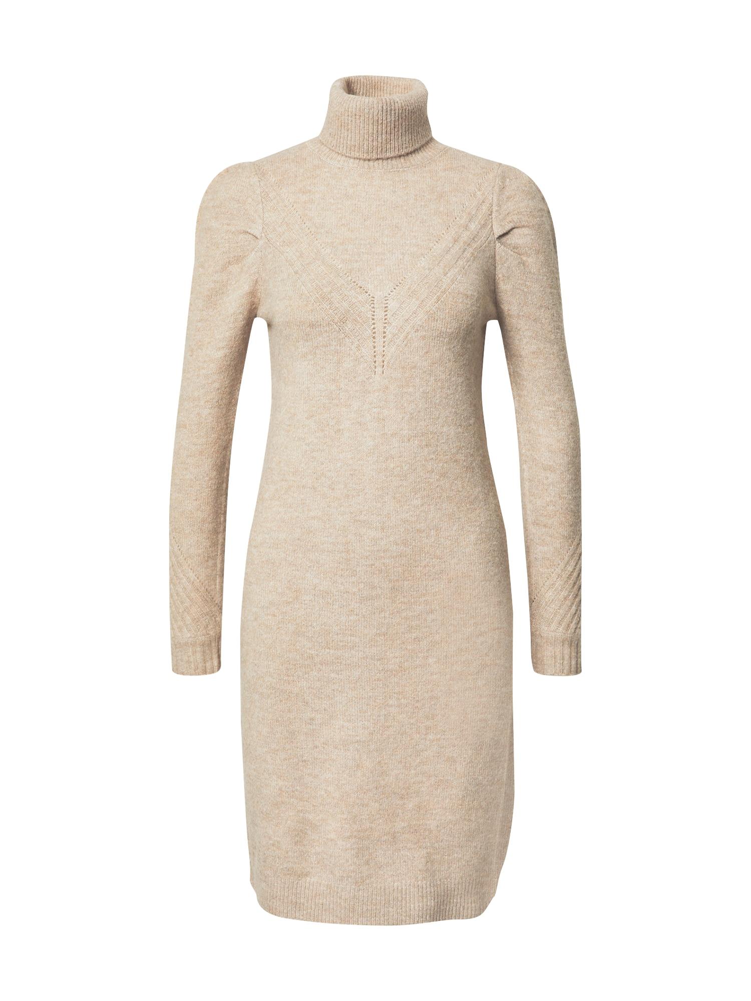 Pimkie Úpletové šaty  béžová