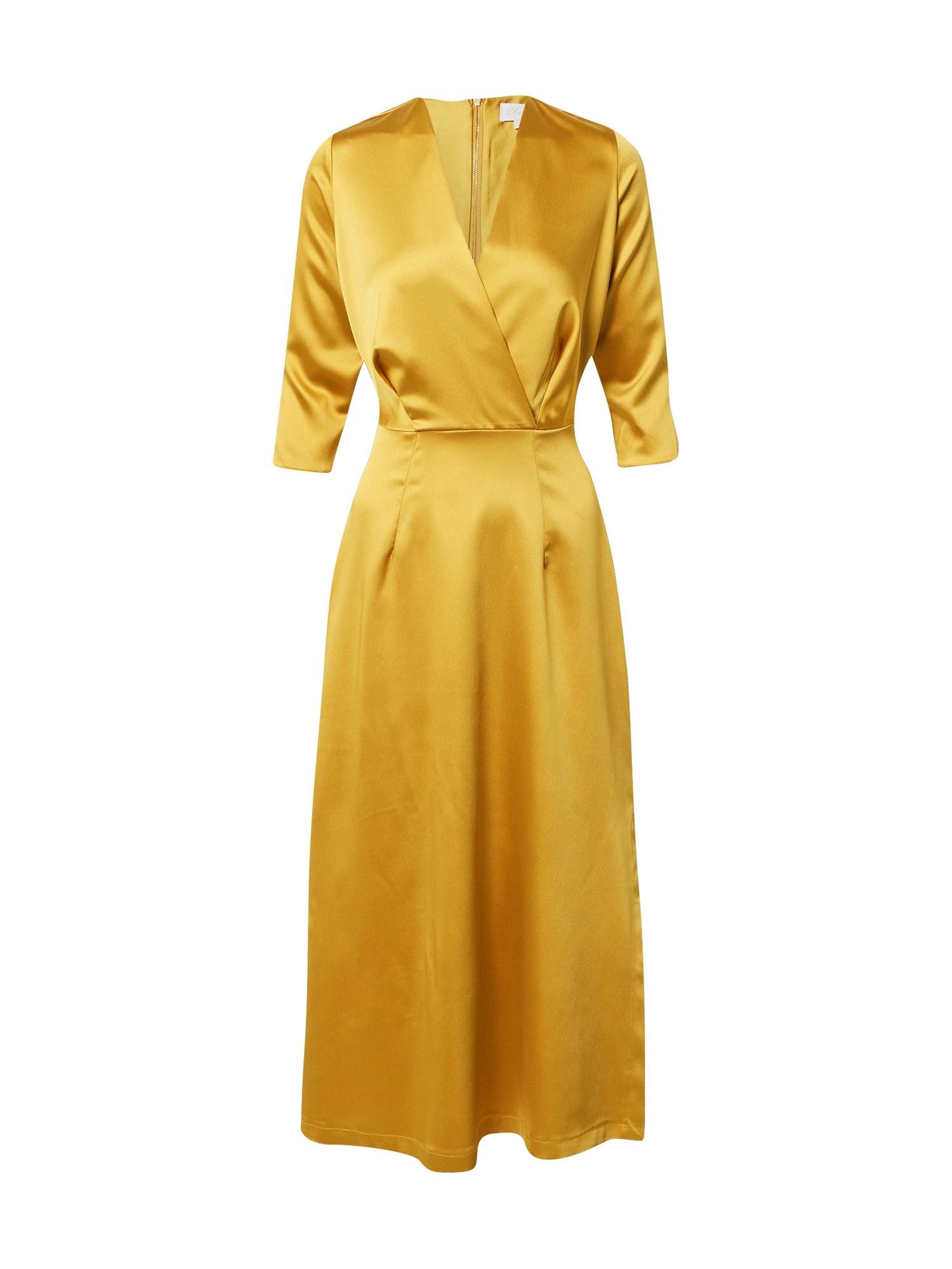 Closet London Kokteilinė suknelė aukso geltonumo spalva
