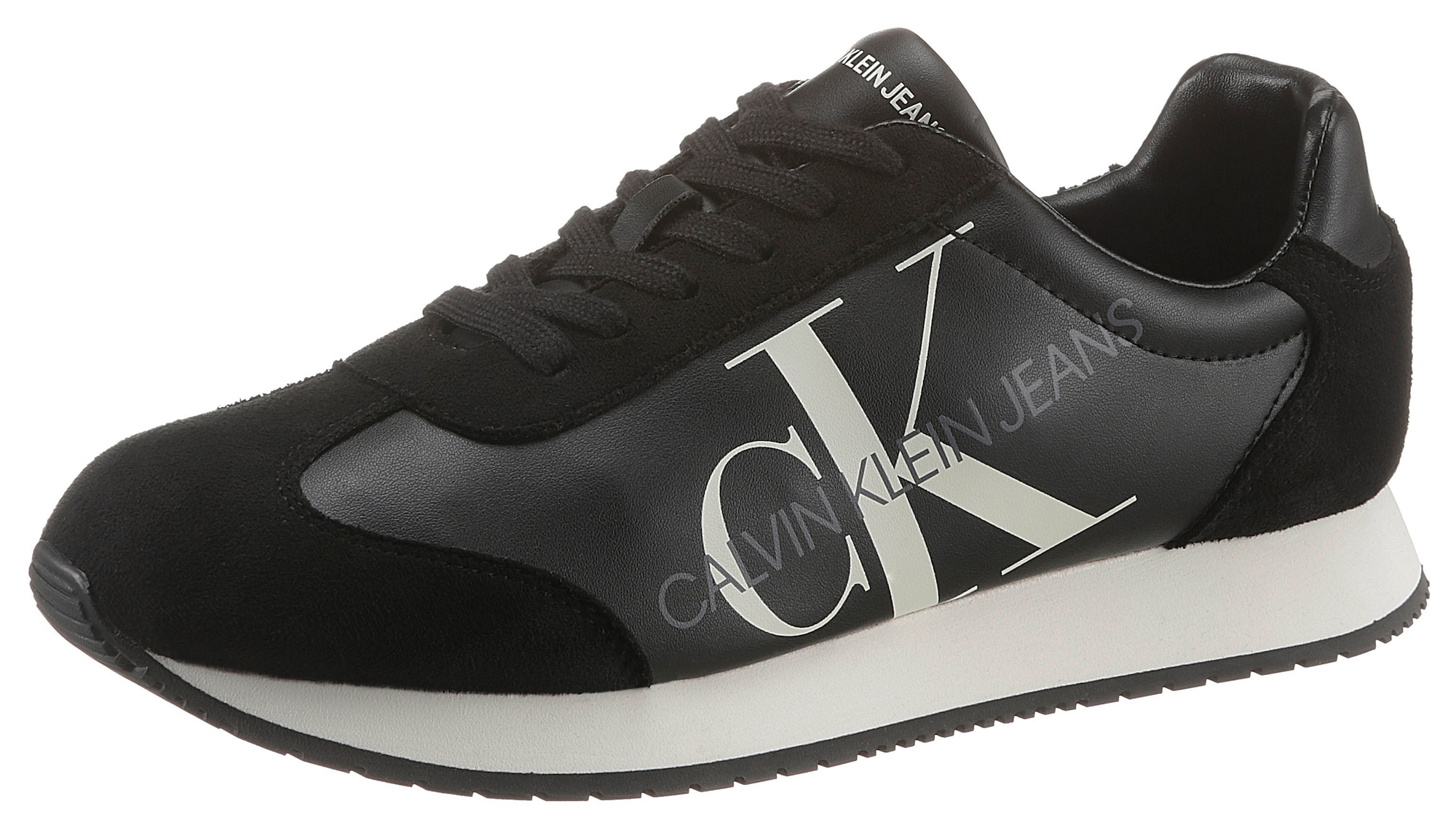 Calvin Klein Jeans Sportbačiai be auliuko juoda / balta