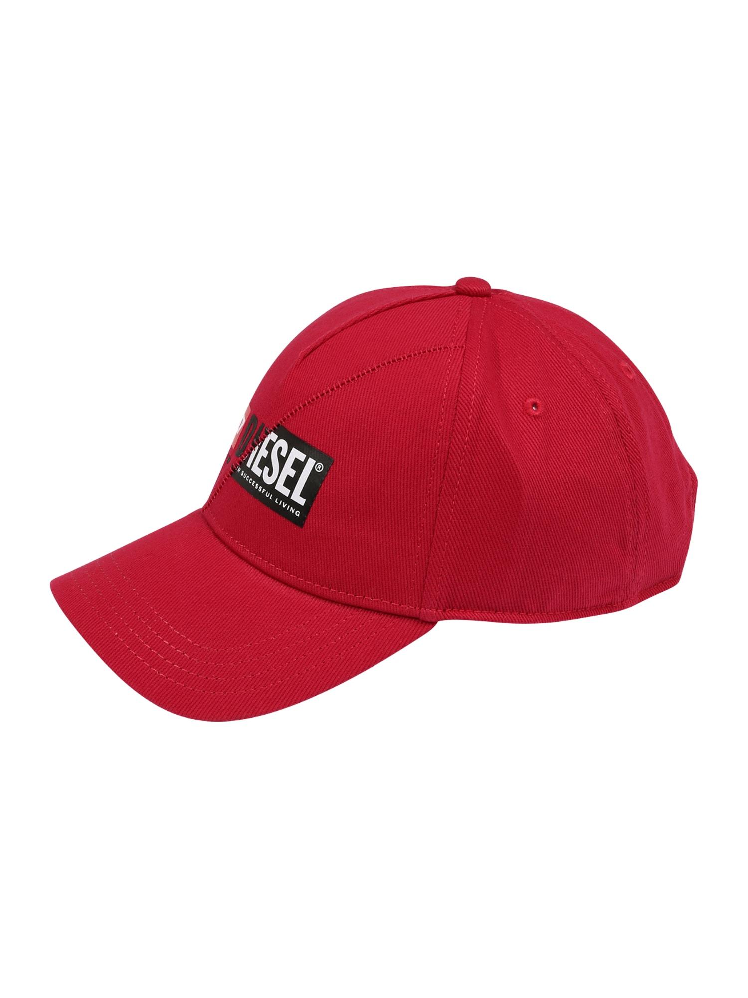 DIESEL Kepurė raudona / juoda