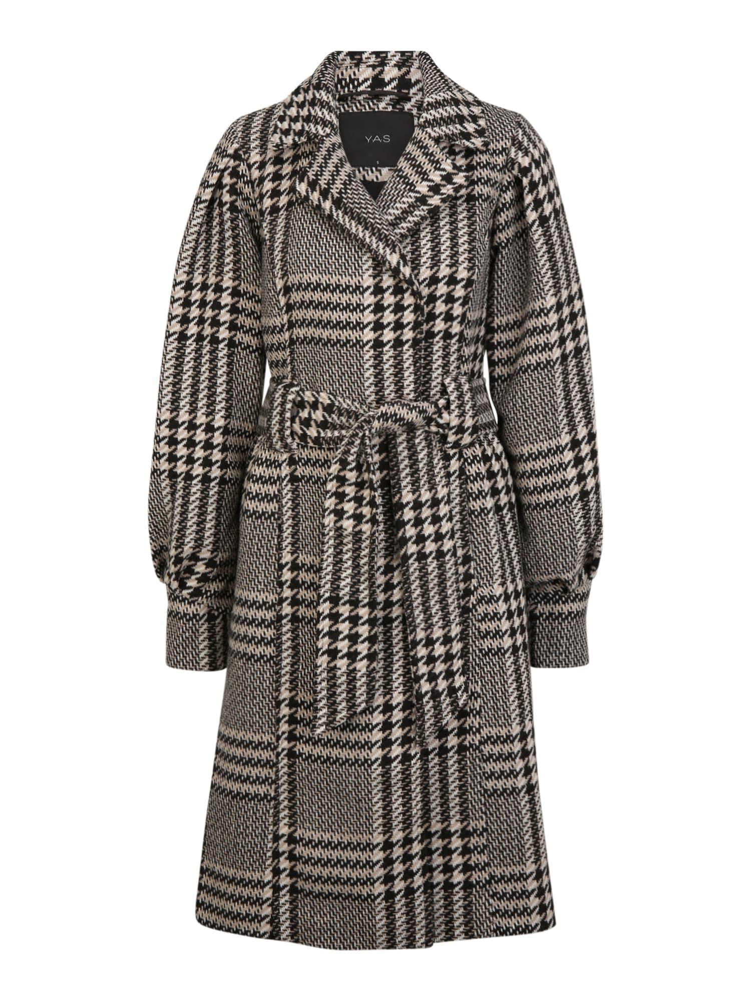 Y.A.S Tall Přechodný kabát 'PONGA'  černá / bílá