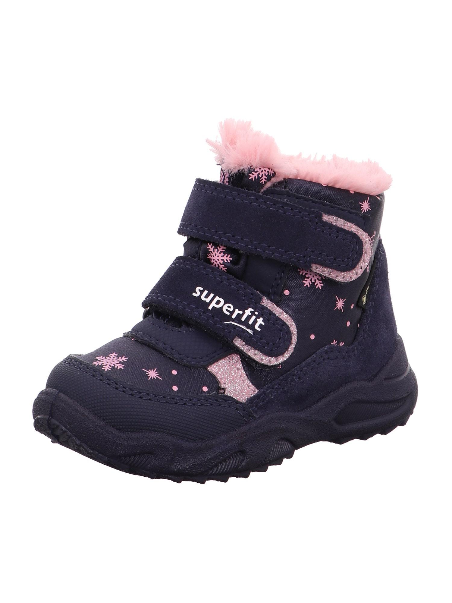 SUPERFIT Sniego batai 'GLACIER' rožių spalva / mėlyna