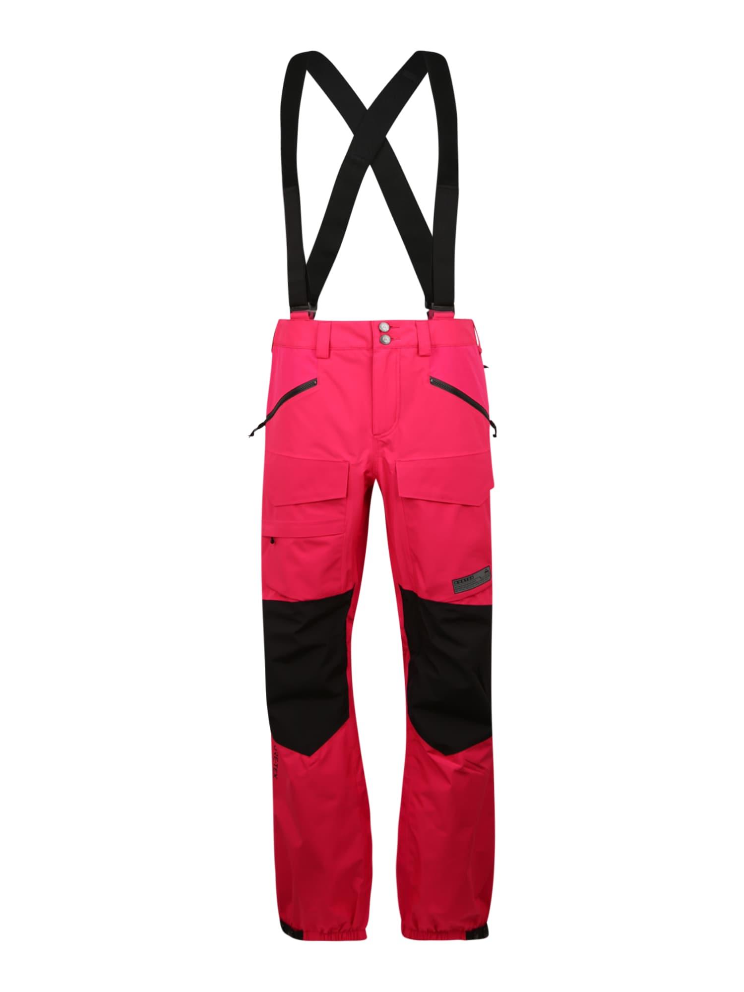 BURTON Sportinės kelnės juoda / rožinė