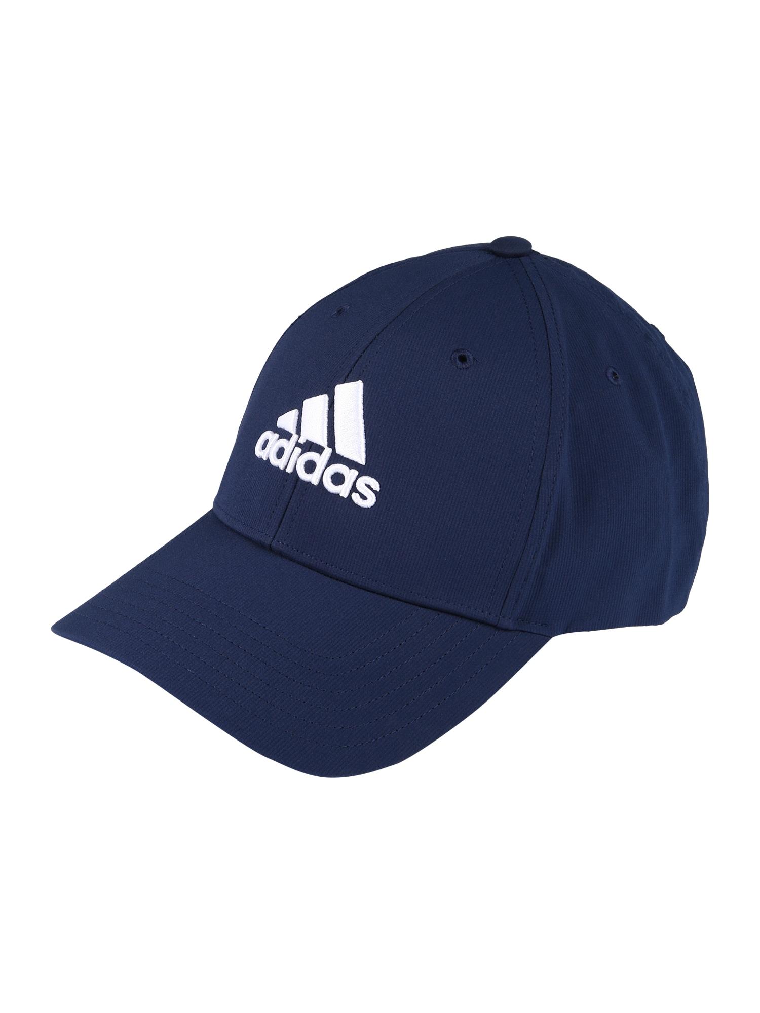 adidas Golf Sportinė kepurė mėlyna / balta