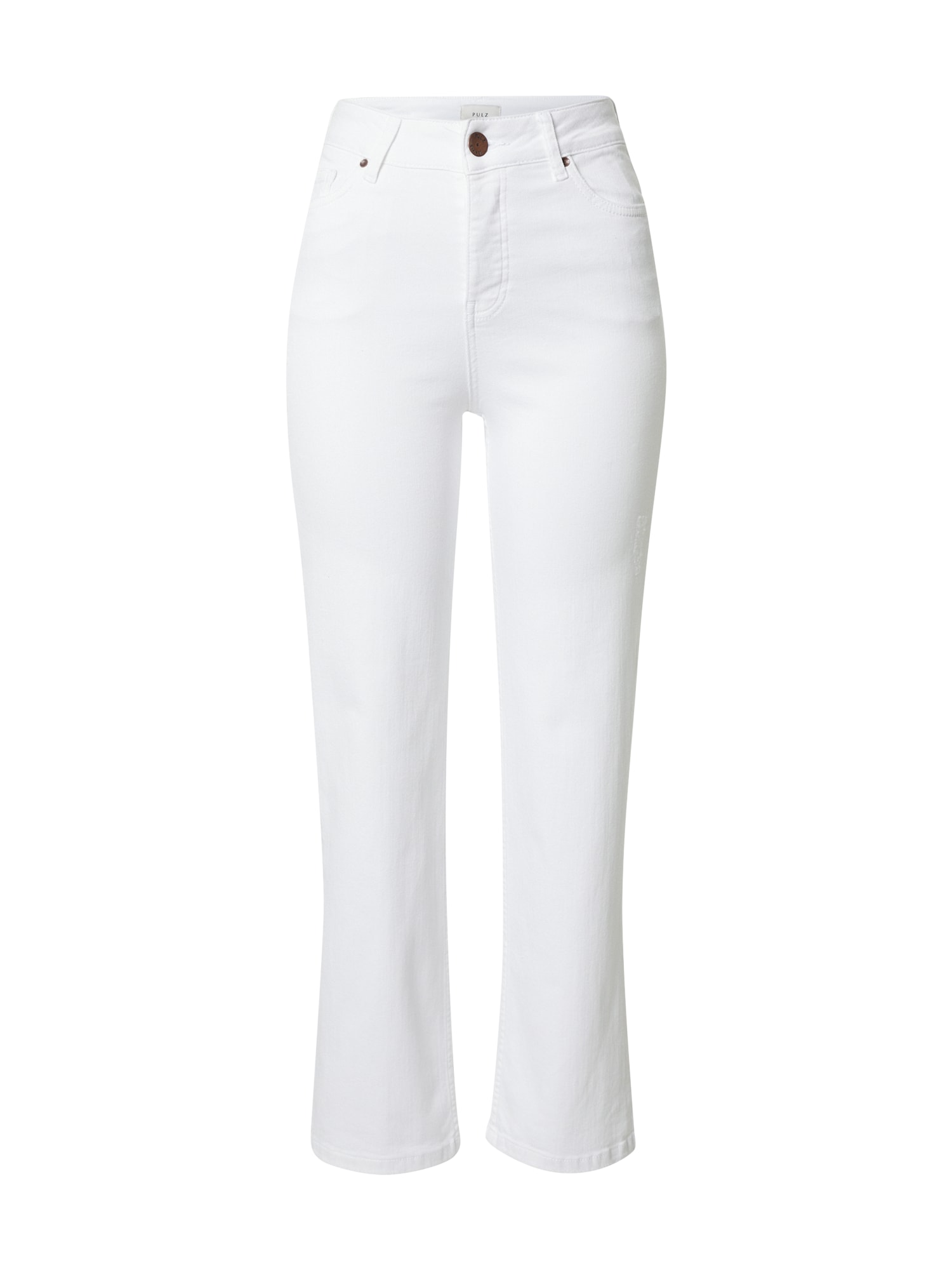 PULZ Jeans Džinsai balto džinso spalva