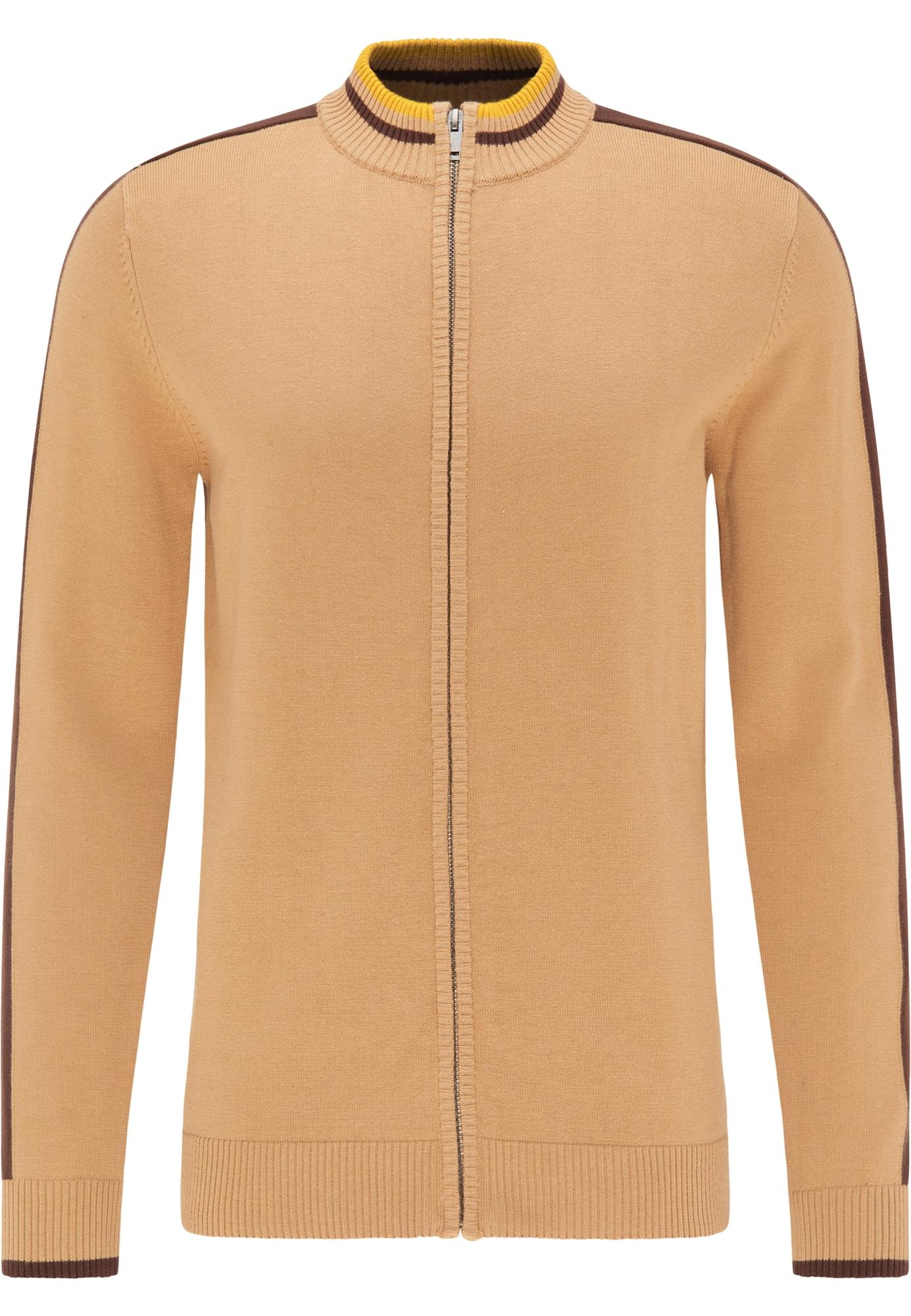 MO Kardiganas šviesiai ruda / tamsiai ruda / aukso geltonumo spalva