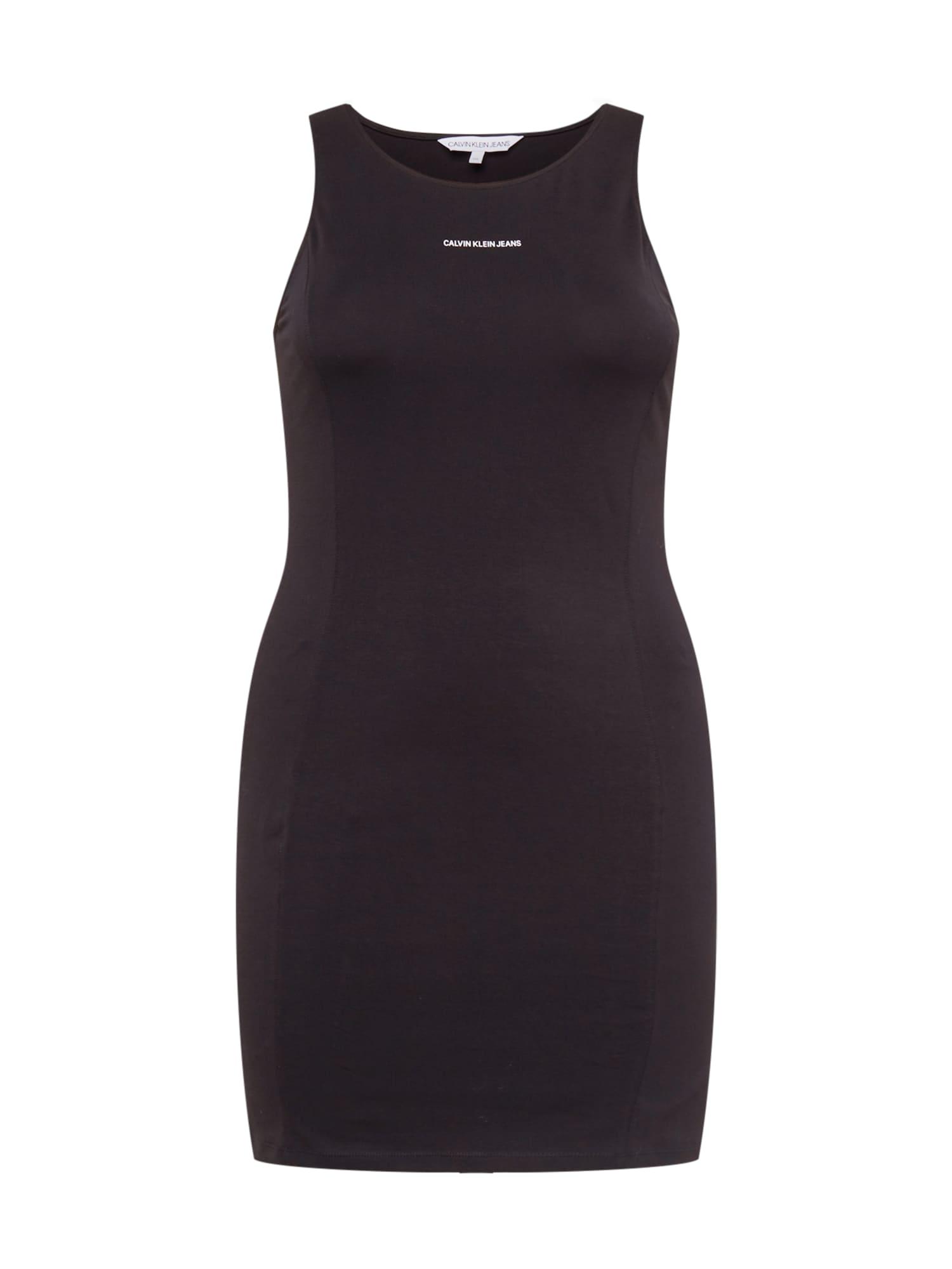Calvin Klein Jeans Curve Suknelė juoda / balta