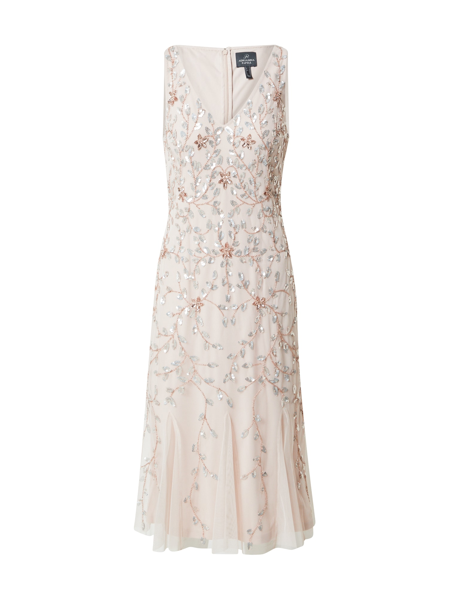 Adrianna Papell Kokteilinė suknelė smėlio spalva / sidabrinė / rožinio aukso spalva