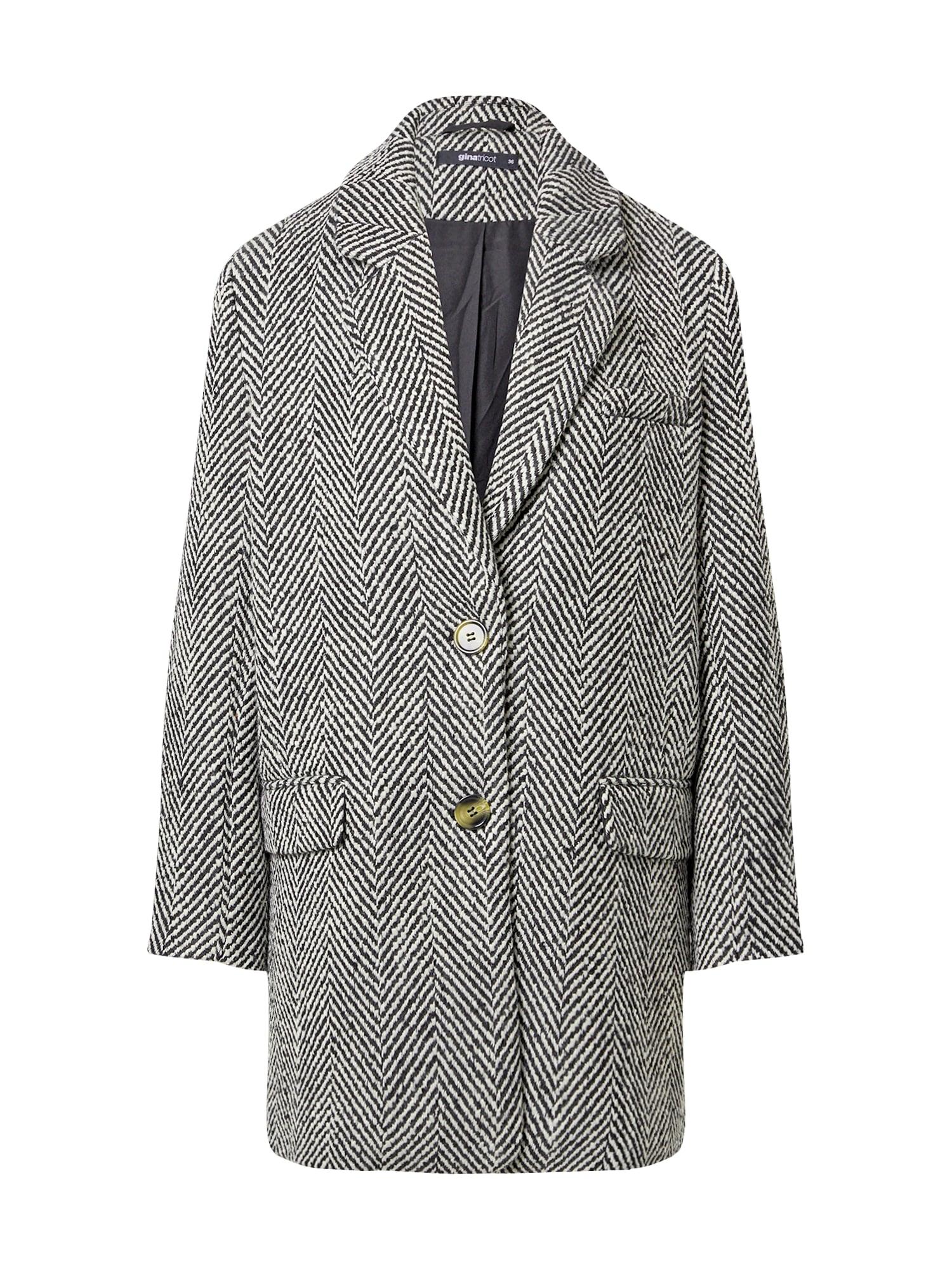Gina Tricot Demisezoninis paltas juoda / balta