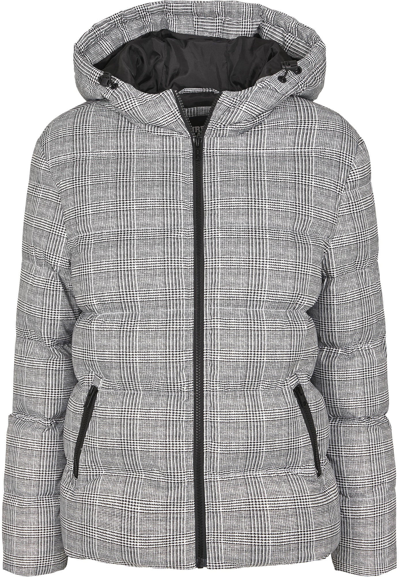 Urban Classics Zimná bunda 'Glencheck'  biela / čierna
