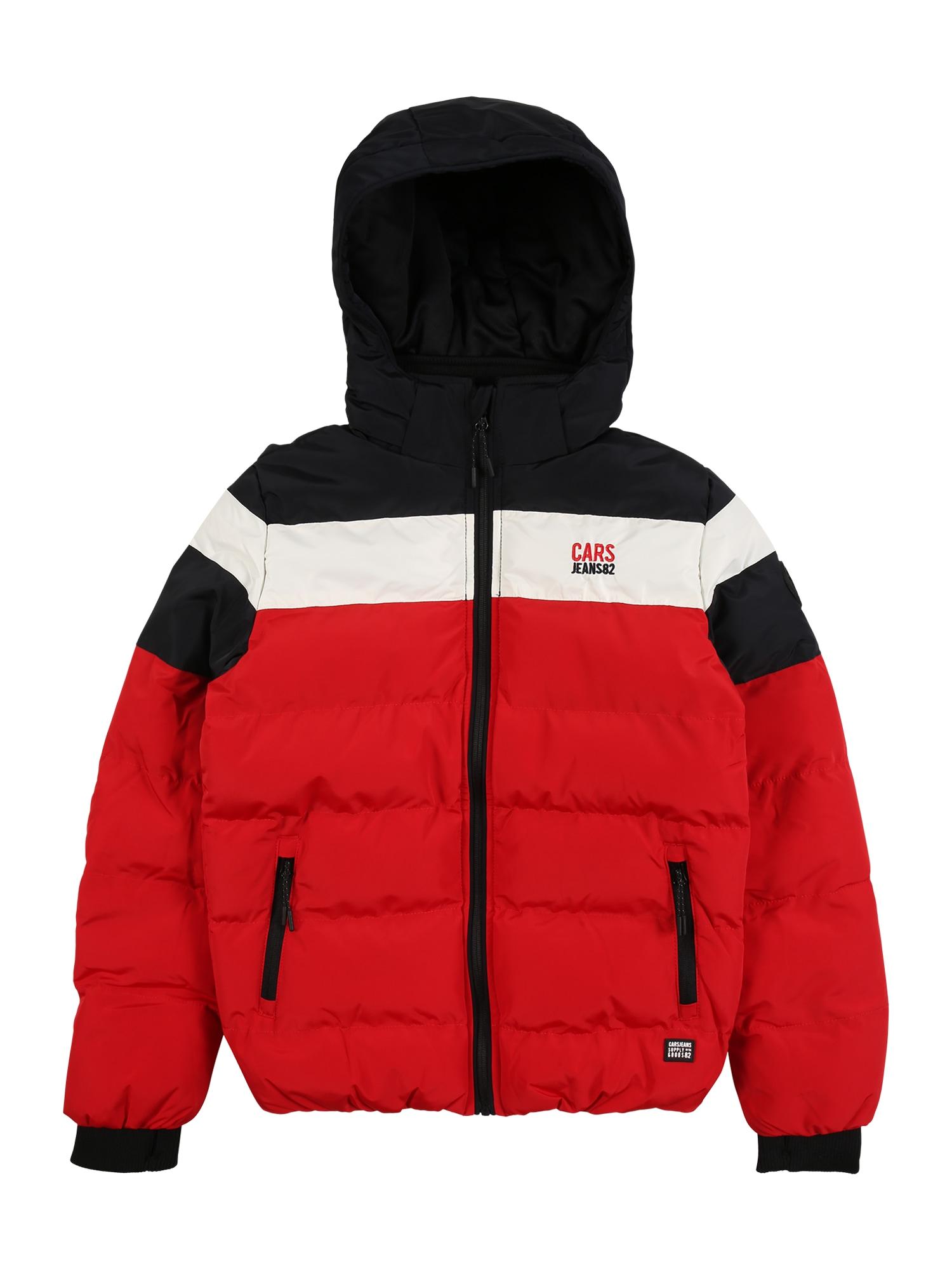 Cars Jeans Funkční bunda 'GRANBY'  červená / bílá / černá