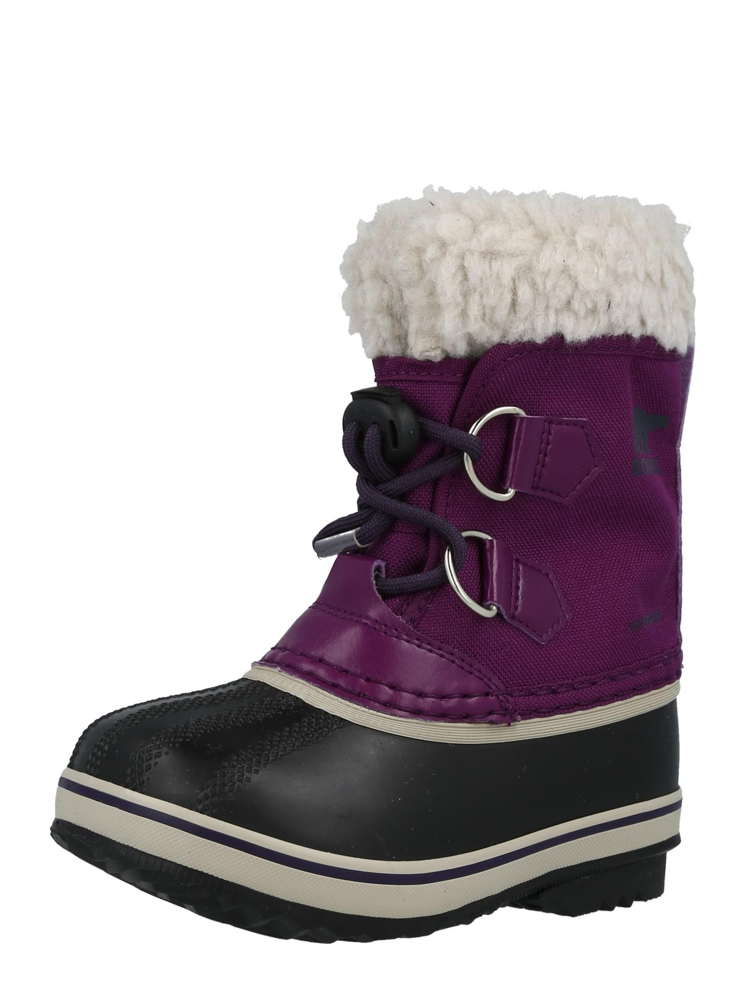 SOREL Sněhule  tmavě fialová / černá / bílá