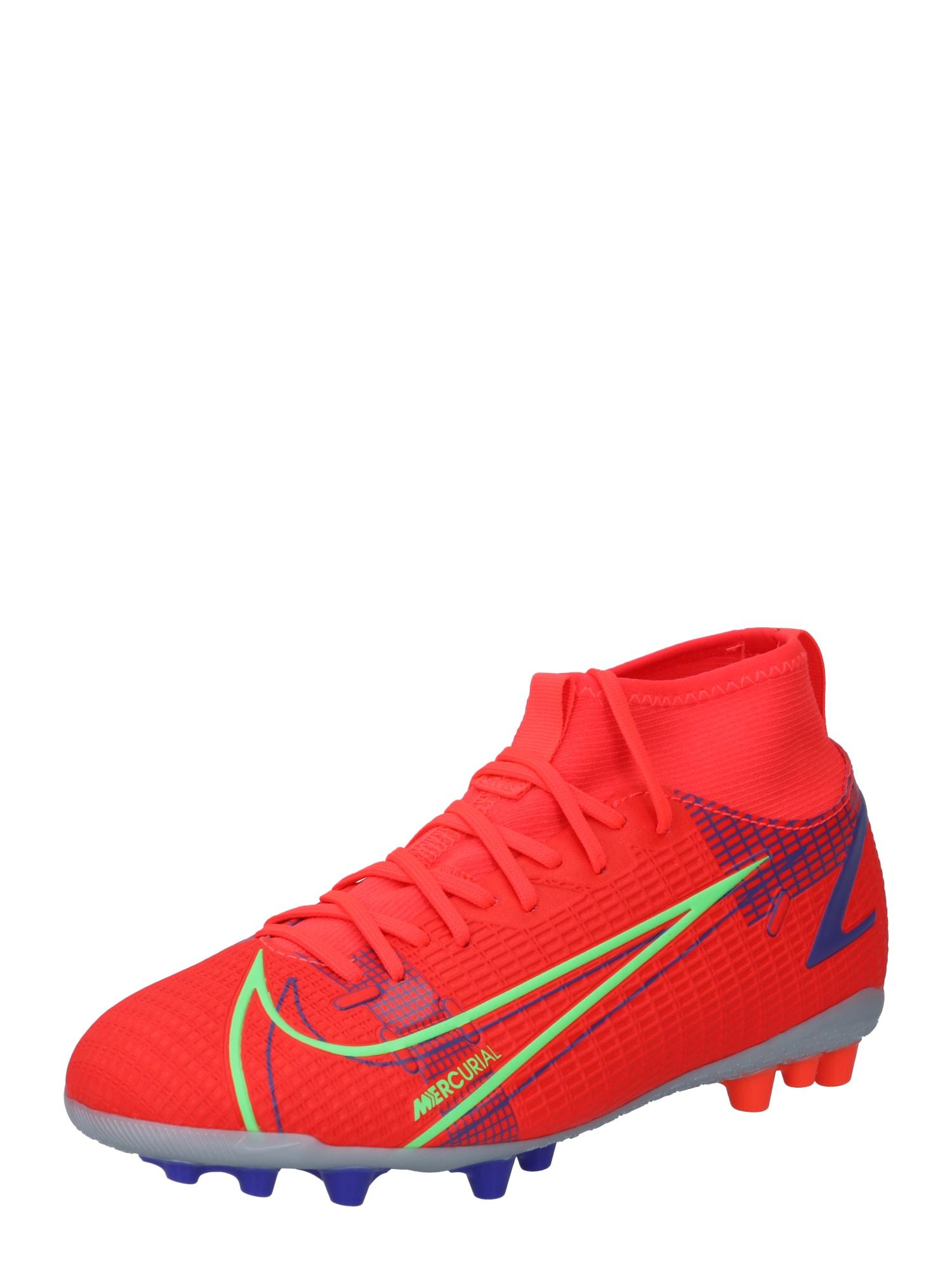 NIKE Sportiniai batai neoninė žalia / mėlyna / raudona