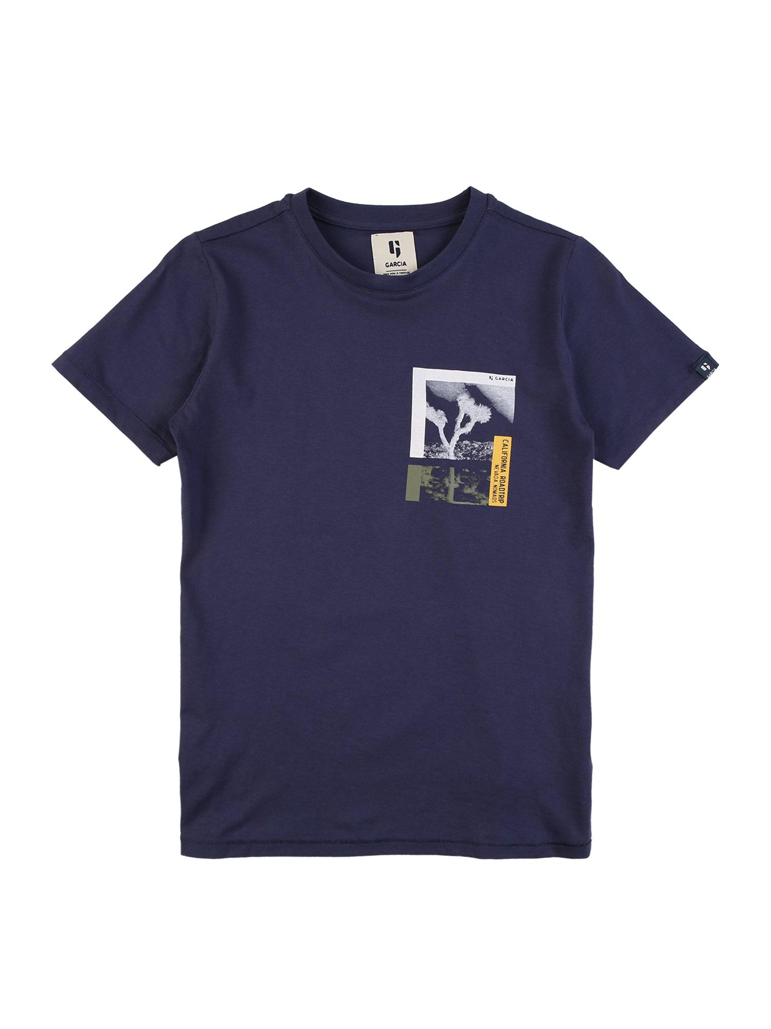 GARCIA Marškinėliai tamsiai mėlyna / balta / geltona