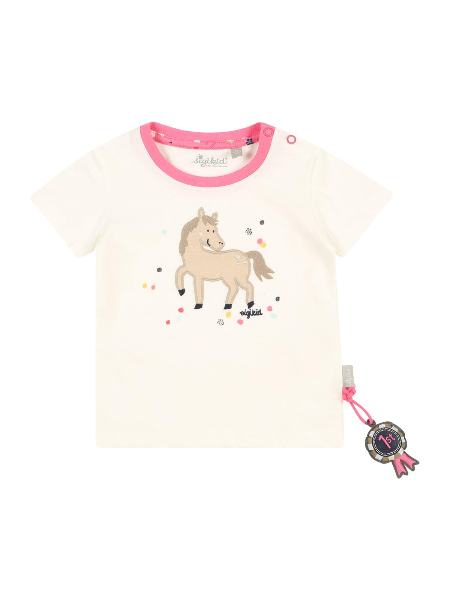 SIGIKID Marškinėliai balta / rožinė / mišrios spalvos