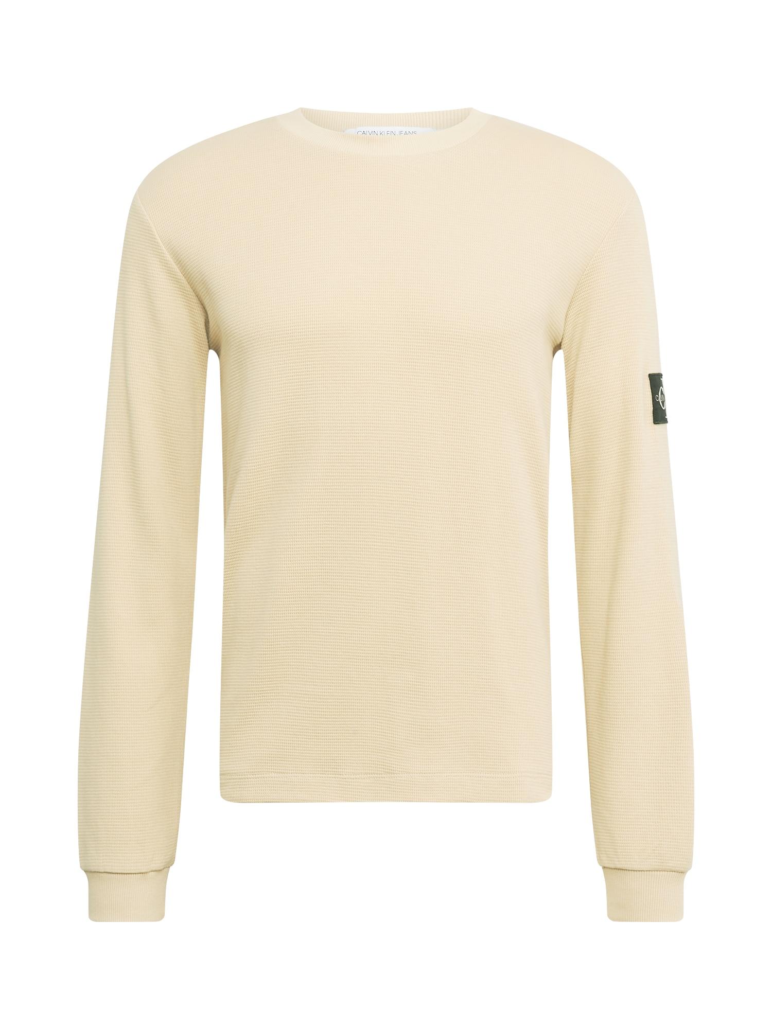 Calvin Klein Jeans Marškinėliai kremo