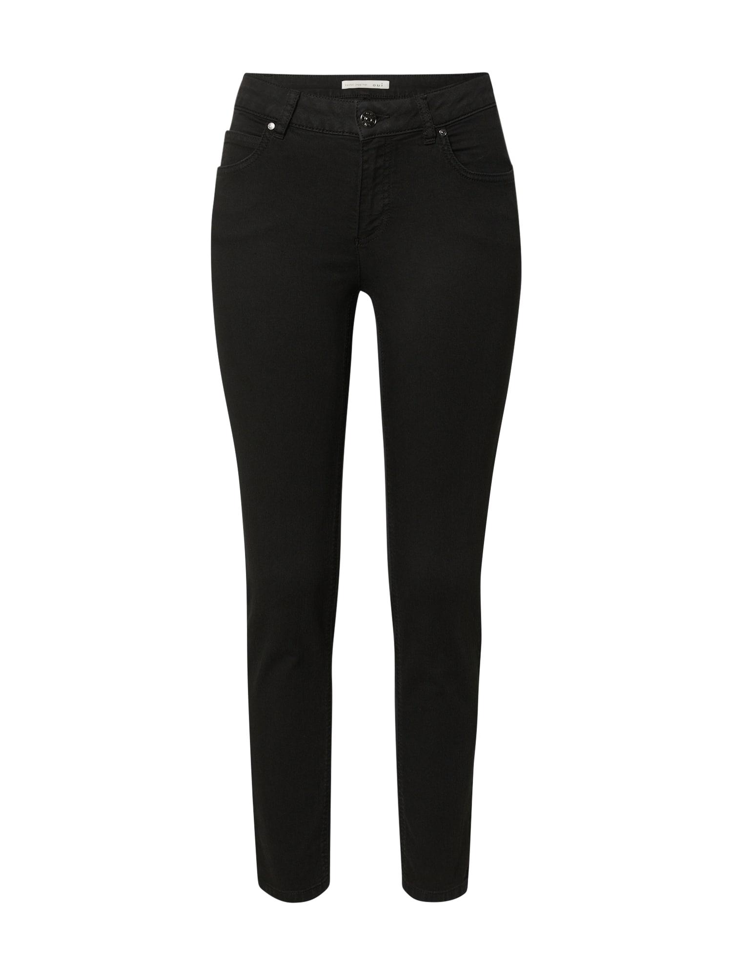OUI Džinsai juodo džinso spalva