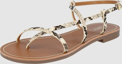 Only Shoes Melly Crossover Kunstleder-Sandal mit Schlangen-Print