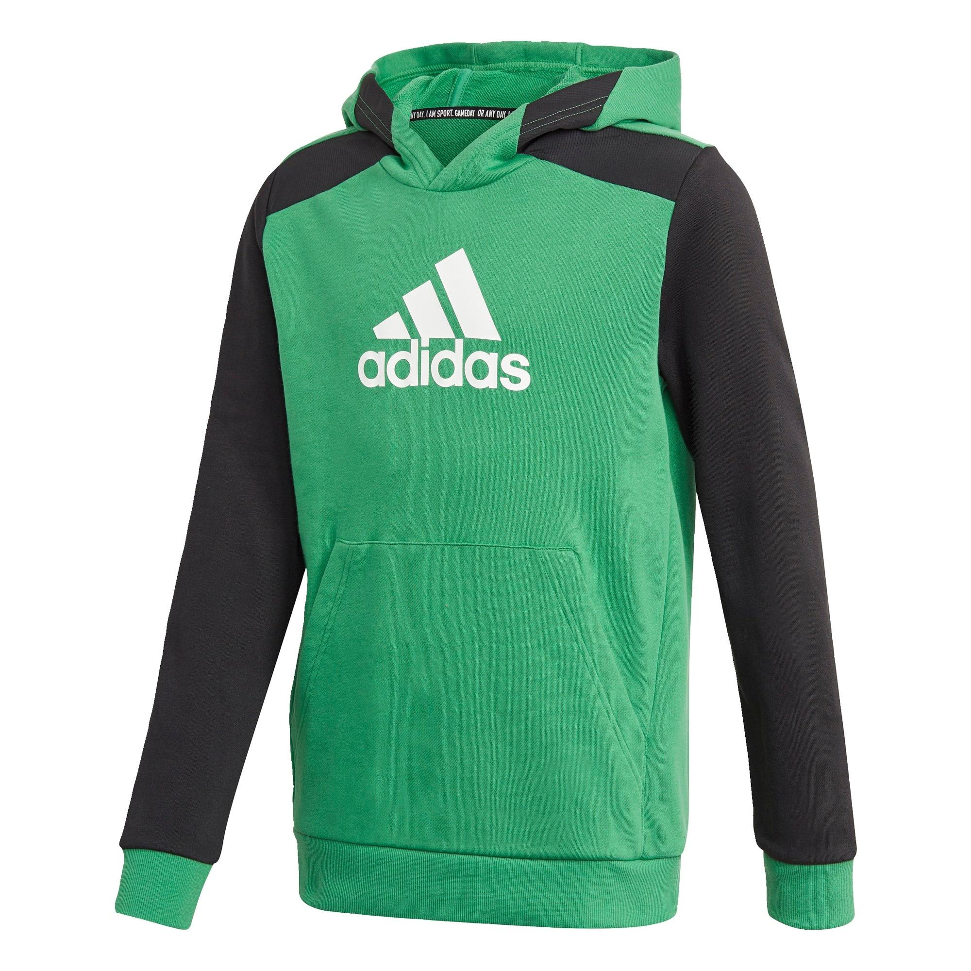 ADIDAS PERFORMANCE Sportinio tipo megztinis balta / juoda / šviesiai žalia