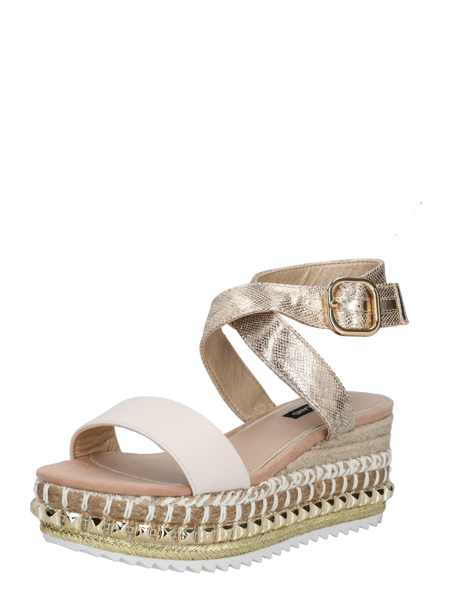 River Island Páskové sandály  béžová / zlatá