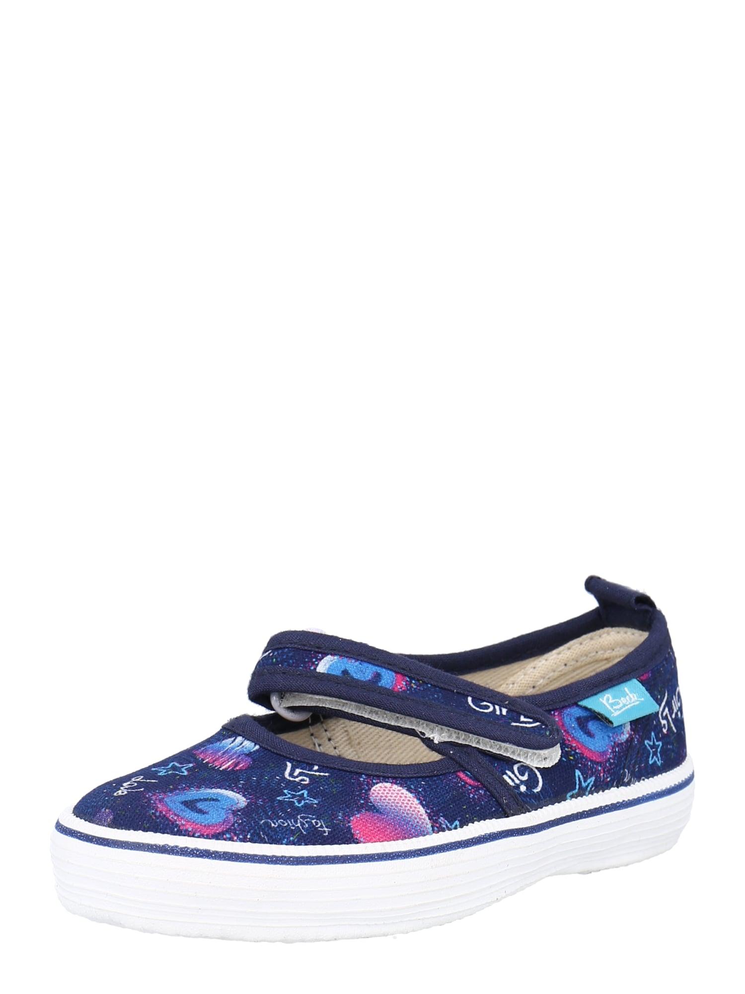 BECK Balerinos tamsiai mėlyna / šviesiai violetinė / balta / šviesiai mėlyna / rožinė
